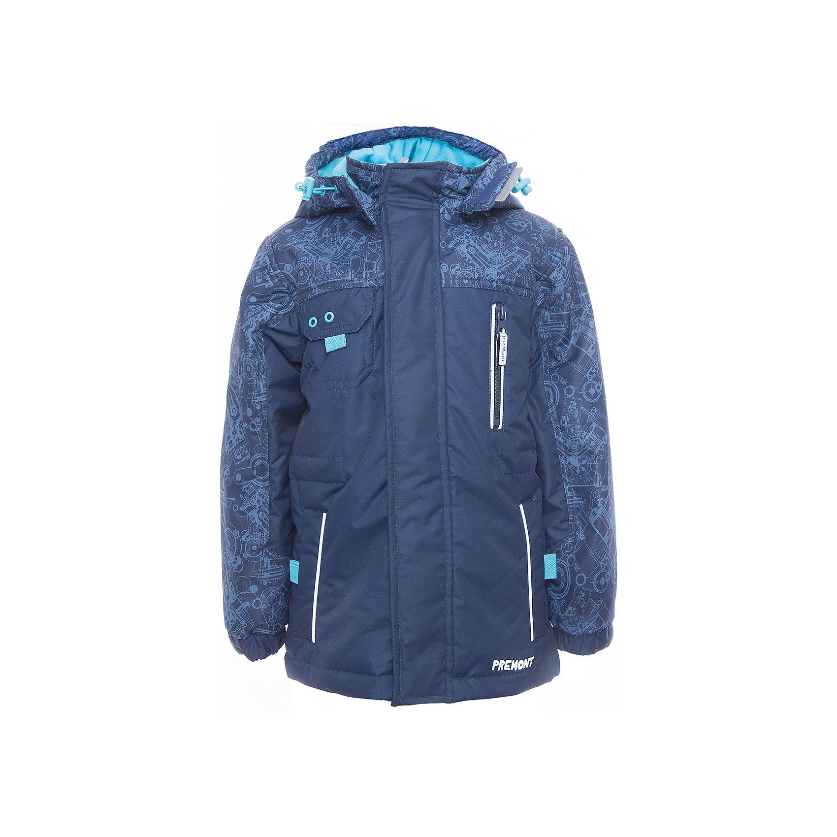 Парка для мальчика PremontВерхняя одежда<br>Характеристики товара:<br><br>• цвет: синий<br>• материал верха: 100% полиэстер, мембрана 3000 мм/ 3000 г/м ?/24h<br>• подкладка - тафетта, трикотаж с ворсом на воротнике и в капюшоне<br>• утеплитель - Tech-Polyfill, 120 г/м2<br>• температурный режим: от -5° С до +10° С<br>• водонепроницаемый материал<br>• съемный капюшон<br>• защита подбородка<br>• эластичные манжеты<br>• комфортная посадка<br>• светоотражающие элементы<br>• молния<br>• страна бренда: Канада<br><br>Демисезонная парка защитит от ветра и дождя. <br>Одежда от канадского бренда Premont пользуются популярностью во многих странах. Она стильная, качественные и удобная. Для производства продукции используются только безопасные, проверенные материалы и фурнитура. Порадуйте ребенка модными и красивыми вещами от Premont! <br><br>Парку для мальчика от известного бренда Premont можно купить в нашем интернет-магазине.<br><br>Ширина мм: 356<br>Глубина мм: 10<br>Высота мм: 245<br>Вес г: 519<br>Цвет: синий<br>Возраст от месяцев: 36<br>Возраст до месяцев: 48<br>Пол: Мужской<br>Возраст: Детский<br>Размер: 104,164,110,116,122,128,134,140,146,152<br>SKU: 5353085