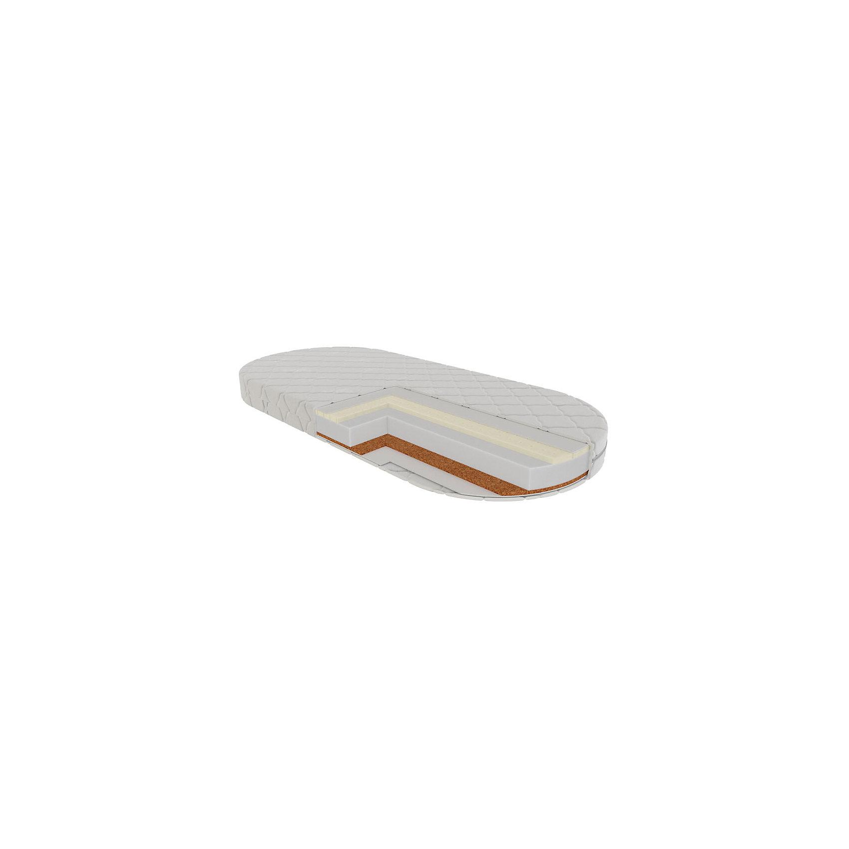 Матрас Палермо овальный 125х65, VikalexМатрасы<br>Характеристики:<br><br>• двусторонний матрас в детскую кроватку;<br>• размер матраса: 125х65х14 см;<br>• материал: кокосовое волокно 50 мм, латекс 10 мм, Hollcon 60 мм (спиральное волокно из пружинок), нетканый материал Airotek;<br>• чехол с пропиткой алоэ-вера с защитой от клещей;<br>• стеганый чехол (ткань ТИК) на молнии;<br>• чехол можно снять и постирать при температуре 30 градусов;<br>• вес матраса: 4,6 кг.<br><br>Матрас разной степени жесткости дает возможность укладывать ребенка на ровное жесткое основание, для формирования правильной осанки. Матрас гарантирует комфорт и при этом анатомически правильную поддержку позвоночника ребенка - это крайне важно, ведь в первые месяцы жизни малыша закладывается динамика развития систем органов. Эластичность и прочность матраса наряду с гипоаллергенностью и воздухопроницаемостью отвечает самым высоким европейским стандартам.  <br><br>Матрас Палермо овальный 125х65, Vikalex можно купить в нашем магазине.<br><br>Ширина мм: 530<br>Глубина мм: 130<br>Высота мм: 580<br>Вес г: 3200<br>Возраст от месяцев: 0<br>Возраст до месяцев: 36<br>Пол: Унисекс<br>Возраст: Детский<br>SKU: 5353867