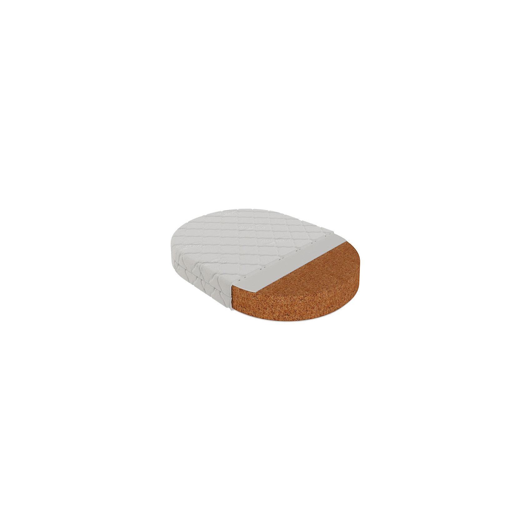 Матрас Перуджа круглый 65х65, VikalexДетские матрасы<br>Характеристики:<br><br>• двусторонний матрас для пеленального столика;<br>• размер матраса: 65х65х6,5 см;<br>• основа: беспружинный;<br>• материал: кокосовое волокно, 8 слоев, нетканый материал Airotek;<br>• чехол с пропиткой алоэ-вера с защитой от клещей;<br>• стеганый чехол из бязи, застежка-молния;<br>• чехол можно снять и постирать при температуре 30 градусов;<br>• вес матраса: 4,6 кг.<br><br>Матрас одинаково степени жесткости дает возможность укладывать ребенка на ровное жесткое основание, для формирования правильной осанки. Матрас гарантирует комфорт и при этом анатомически правильную поддержку позвоночника ребенка. Эластичность и прочность матраса наряду с гипоаллергенностью и воздухопроницаемостью отвечает самым высоким европейским стандартам.  <br><br>Матрас Перуджа круглый 65х65, Vikalex можно купить в нашем магазине.<br><br>Ширина мм: 530<br>Глубина мм: 130<br>Высота мм: 580<br>Вес г: 3200<br>Возраст от месяцев: 0<br>Возраст до месяцев: 36<br>Пол: Унисекс<br>Возраст: Детский<br>SKU: 5353868