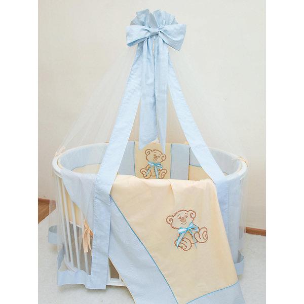 Постельное белье для овальной кроватки Peekaboo 8 пр., Valle, голубойПостельное белье в кроватку новорождённого<br>Характеристики:<br><br>• комплект состоит из 8 предметов;<br>• постельное белье Peekaboo предназначено для овальной кроватки Valle;<br>• материал: бязь, наполнитель: холлкон, экологически чистый материал без токсинов.<br><br>Комплект детского постельного белья для овальной кроватки включает в себя 8 предметов: <br><br>• балдахин из микросетки, 4 метра;<br>• две оборки на балдахине: текстильная в тон комплекту и дополнительная оборка из микросетки с текстильной планкой по кругу;<br>• бортик 38х324 см из 4 частей, комплект съемных чехлов, которые застегиваются на молнии;<br>• наволочка 40х60 см;<br>• простыня на резинке, круг, 92х65 см;<br>• простыня на резинке, овал, 125х65 см;<br>• пододеяльник 110х140 см, бязь, с принтом;<br>• подушка 40x60 см из отбеленного хлопка;<br>• одеяло 110x140 см из отбеленного хлопка.<br><br>Постельное белье для овальной кроватки Peekaboo 8 пр., Valle, голубое можно купить в нашем магазине.<br><br>Ширина мм: 1250<br>Глубина мм: 650<br>Высота мм: 120<br>Вес г: 3900<br>Возраст от месяцев: 0<br>Возраст до месяцев: 36<br>Пол: Мужской<br>Возраст: Детский<br>SKU: 5353878