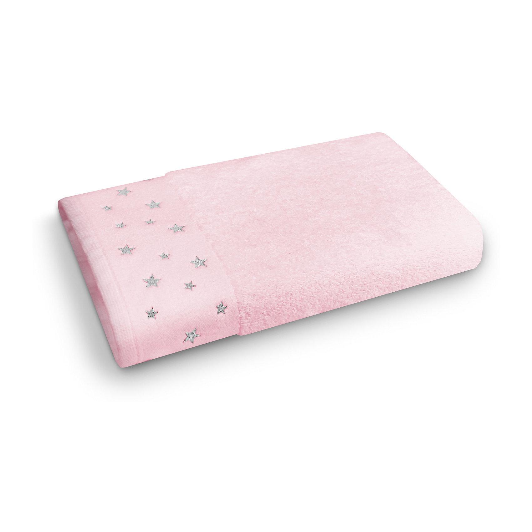 Полотенце махровое 50*90 Звездопад, Cozy Home, розовый