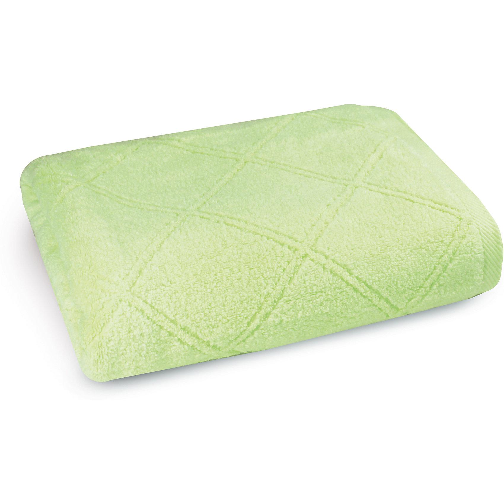 Полотенце махровое 70*140, Cozy Home, зеленыйВанная комната<br>Полотенце махровое 70*140, Cozy Home (Кози Хоум), зеленый<br><br>Характеристики:<br><br>• мягкое полотенце, приятное на ощупь<br>• хорошо впитывает влагу<br>• легко стирать<br>• материал: хлопок<br>• размер: 70х140 см<br>• цвет: зеленый<br><br>Мягкое и качественное полотенце - залог вашего комфорта. Махровое полотенце от Cozy Home создано из мягкого качественного хлопка. Хлопок хорошо впитывает влагу, не позволяя микробам и бактериям образовываться на поверхности. К тому же, полотенце не меняет свой вид и сохраняет свойства даже после многочисленных стирок. Дизайн полотенца - однотонная расцветка с узором из ромбов. Он прекрасно впишется в интерьер любой ванной комнаты.<br><br>Полотенце махровое 70*140, Cozy Home (Кози Хоум), зеленый вы можете купить в нашем интернет-магазине.<br><br>Ширина мм: 150<br>Глубина мм: 350<br>Высота мм: 150<br>Вес г: 350<br>Возраст от месяцев: 0<br>Возраст до месяцев: 216<br>Пол: Унисекс<br>Возраст: Детский<br>SKU: 5355320
