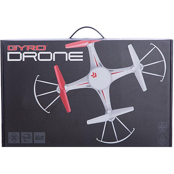 Квадрокоптер GYRO-Drone, 2,4GHz, 4 канала, headless режим, возвращается, 1toyСамолёты и вертолёты<br>Характеристики:<br><br>• Вид игр: сюжетно-ролевые<br>• Пол: для мальчиков<br>• Предназначен: для игр на улице, дома<br>• Материал: пластик, металл<br>• Размер квадрокоптера: 30*30 см<br>• Комплектация: квадрокоптер, джойстик, 4 запасные лопасти<br>• Батарейки для джойстика: 6 шт. типа ААА (в комплекте не предусмотрены)<br>• Предусмотены 2 скоростных режима<br>• Функция автоматического возвращения на старт<br>• Регулировка вращения<br>• Радиус действия: до 80 м<br>• Свободный полет: до 10 минут<br>• Время полной зарядки: до 120 минут<br>• Тип зарядного устройства: USB-кабель<br>• Вес упаковки: 950 г<br>• Размеры упаковки (Г*Ш*В): 10*30*47 см<br>• Упаковка: картонная коробка <br><br>Квадрокоптер GYRO-Drone, 2,4GHz, 4 канала, headless режим, возвращается, 1toy от отечественного торгового бренда предназначен для игр как на улице, так и дома. Игрушечный квадрокоптер представляет собой летательный аппарат, оснащенный четырьмя пропеллерами, управление которым осуществляется за счет джойстика. Дальность действия сигнала составляет до 80 метров, благодаря чему с квадрокоптером будет особенно интересно играть на улице. У игрушки предусмотрены 2 скоростных режима, предусмотрен визуальный тримминг и функция возврата на старт. Светящаяся в темноте платформа делает полеты эффектными в вечернее время. Все детали выполнены из безопасного и прочного пластика, устойчивого к повреждениям. Квадрокоптер GYRO-Drone, 2,4GHz, 4 канала, headless режим, возвращается, 1toy станет прекрасным подарком для детей, увлекающихся моделированием летательных аппаратов!<br><br>Квадрокоптер GYRO-Drone, 2,4GHz, 4 канала, headless режим, возвращается, 1toy можно купить в нашем интернет-магазине.<br>Ширина мм: 470; Глубина мм: 100; Высота мм: 300; Вес г: 945; Возраст от месяцев: 60; Возраст до месяцев: 192; Пол: Мужской; Возраст: Детский; SKU: 5355527;