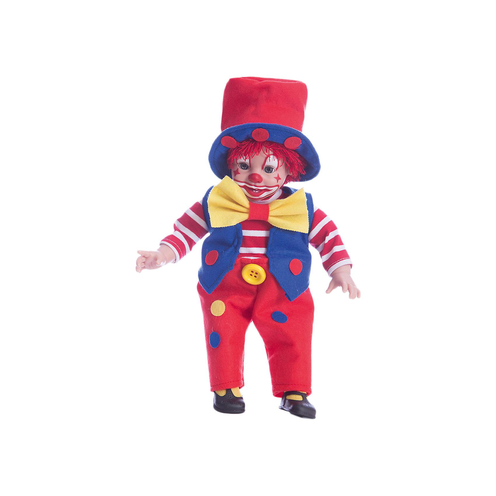 Клоун, 38 см, в коробке, AriasБренды кукол<br>Характеристики:<br><br>• Вид игр: сюжетно-ролевые<br>• Пол: для девочек/для мальчиков<br>• Коллекция: Elegance<br>• Материал: винил, текстиль<br>• Длина клоуна: 38 см<br>• Подвижные ручки и ножки <br>• Вес в упаковке: 1 кг 100 г<br>• Размеры упаковки (Г*Ш*В): 40*15*20 см<br>• Упаковка: картонная коробка<br>• Особенности ухода: пупса можно купать, одежда – ручная стирка<br><br>Клоун, 38 см, в коробке, Arias изготовлен известным испанским торговым предприятием Munecas, который специализируется на выпуске кукол и пупсов. Кукла мягконабивная с элементами из винила: голова, руки и ноги. Руки и ноги подвижные, на лице четко прорисованный грим клоуна. Клоун одет в яркий нарядный костюм: у него клетчатый жилет, красные штаны, желтые ботинки и красный большой шляпа-цилиндр на голове. На шее у него галстук-бабочка. Все материалы, использованные при изготовлении куклы и комплекта одежды – гипоаллергенные и безопасные. Кукла упакована в пакет. Клоун, 38 см, в коробке, Arias станет идеальным подарком для ребенка к любому празднику.<br><br>Клоуна, 38 см, в коробке, Arias можно купить в нашем интернет-магазине.<br><br>Ширина мм: 475<br>Глубина мм: 165<br>Высота мм: 260<br>Вес г: 1100<br>Возраст от месяцев: 36<br>Возраст до месяцев: 120<br>Пол: Унисекс<br>Возраст: Детский<br>SKU: 5355533