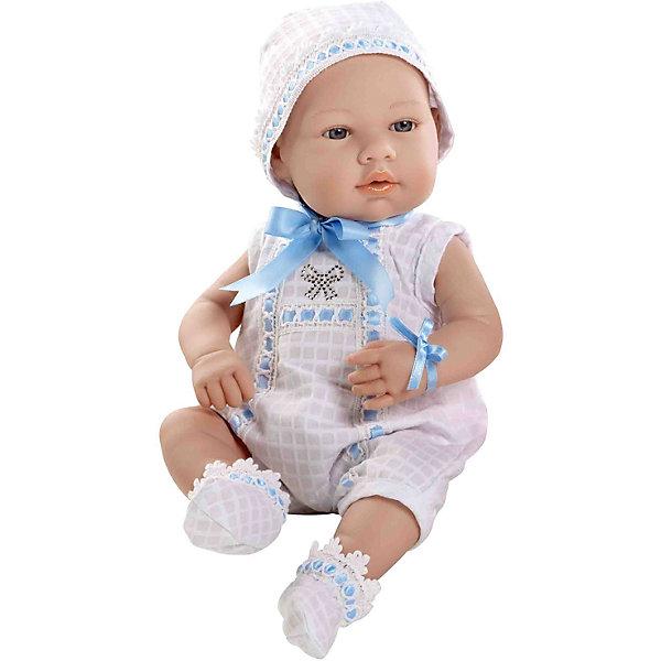 Купить Пупс в бело-голубом боди со стразами Swarowski в виде бантика, 42см, Arias, Испания, Женский