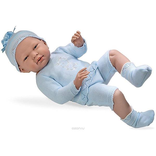 Купить Пупс в голубом костюмчике со стразами Swarowski в виде котёнка, 52см, Arias, Испания, Женский