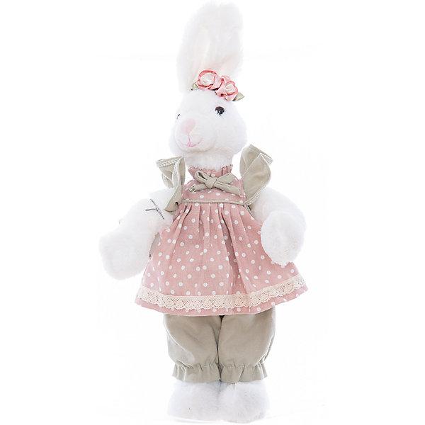 Интерьерная кукла Зайчик C21-168329, EstroДетские предметы интерьера<br>Характеристики интерьерной куклы:<br><br>- размеры: 40 см<br>- тип игрушки: животные, мягкая игрушка<br>- персонаж: заяц<br>- стиль: классический, Прованс<br>- материал изготовления: высококачественный пластик, полиэстер, ткань<br>- состав: дерево, полиэстер, текстиль, полиэфир<br>- вид упаковки: коробка<br>- возрастные ограничения: 3+<br>- сезон: круглогодичный<br>- страна бренда: Италия<br>- страна производитель: Китай<br>- комплектация: игрушка<br><br>Интерьерная кукла в виде белоснежной зайчихи в розовом сарафанчике придаст очарование Вашему интерьеру. Внешний вид куклы проработан до мелочей. Все детали аккуратно подогнаны и прекрасно подходят друг к другу. Данная вещь станет замечательной находкой, как для себя, так и презентом для друга. Кукла итальянской торговой марки Estro является отличным выбором для любого интерьера. Модель изготовлена из качественных материалов красивой палитры, окрашена в белый, светло-зеленый, бледно-розовый цвет. <br><br>Интерьерную куклу итальянской торговой марки Estro можно купить в нашем интернет-магазине.<br>Ширина мм: 150; Глубина мм: 150; Высота мм: 400; Вес г: 310; Возраст от месяцев: 36; Возраст до месяцев: 1188; Пол: Женский; Возраст: Детский; SKU: 5356607;