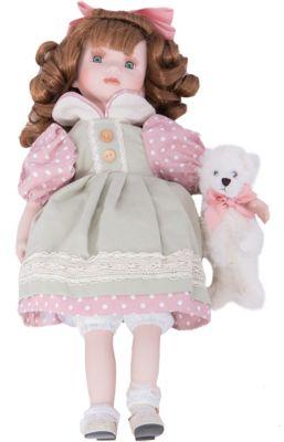 Интерьерная кукла Девочка с мишкой C21-188518, Estro