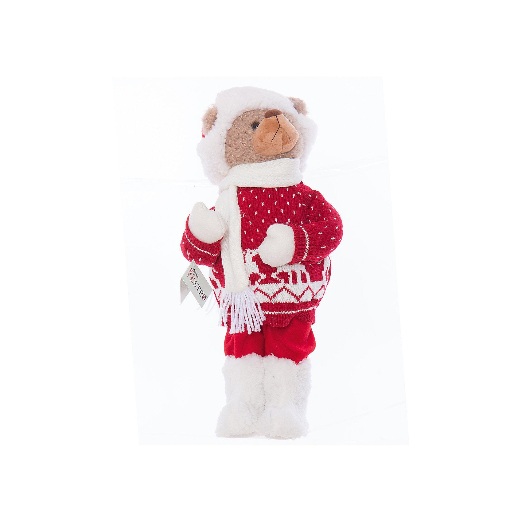 Интерьерная кукла Мишка C21-221035, EstroПредметы интерьера<br>Характеристики интерьерной куклы:<br><br>- состав: полиэстер, пластик, текстиль<br>- габариты предмета: 55* 20 *20 см <br>- комплектация: игрушка<br>- тип игрушки: животные<br>- вид упаковки: коробка<br>- возрастные ограничения: 3+<br>- бренд: Estro <br>- страна бренда: Италия<br>- страна производитель: Китай<br><br>Интерьерная кукла медвежонок в зимнем наряде торговой марки Estro непременно украсит Ваш дом в зимние праздники и будет приятным воспоминанием о них. Оригинальный дизайн и красочное исполнение создадут атмосферу праздника. Кукла медвежонок создана вручную, неповторима и оригинальна. Порадуйте своих друзей и близких этим замечательным подарком!<br><br>Интерьерную куклу медвежонок итальянской торговой марки Estro можно купить в нашем интернет-магазине.<br><br>Ширина мм: 200<br>Глубина мм: 200<br>Высота мм: 550<br>Вес г: 485<br>Возраст от месяцев: 36<br>Возраст до месяцев: 1188<br>Пол: Унисекс<br>Возраст: Детский<br>SKU: 5356638