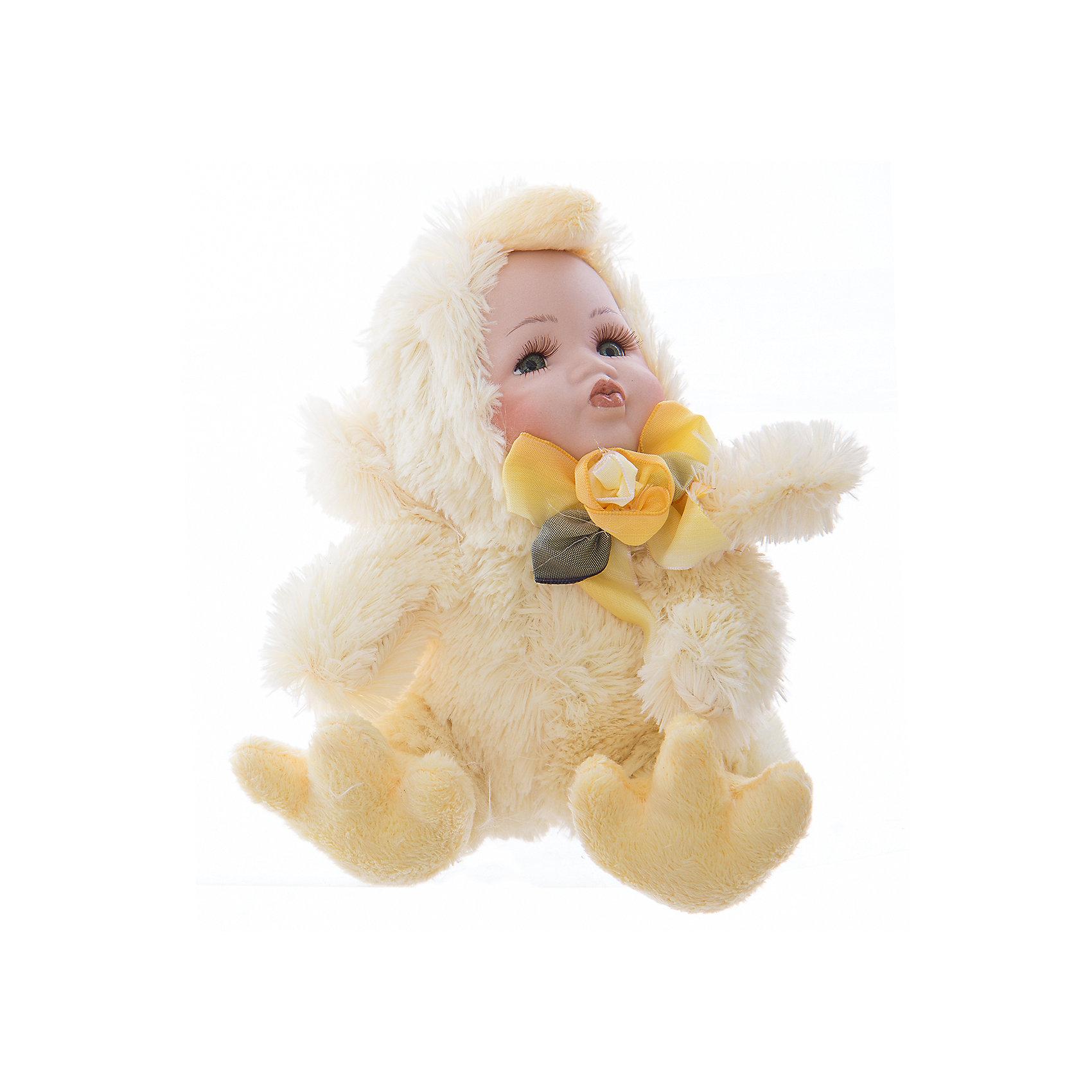Интерьерная кукла Цыпленок C21-108053, EstroПредметы интерьера<br>Характеристики интерьерной куклы:<br><br>- состав: полиэстер, керамика<br>- габариты предмета: 25* 10 *15 см <br>- комплектация: игрушка<br>- тип игрушки: фигурка<br>- вид упаковки: коробка<br>- возрастные ограничения: 3+<br>- бренд: Estro <br>- страна бренда: Италия<br>- страна производитель: Китай<br><br>Интерьерная кукла торговой марки Estro будет лучшим украшением Вашего дома и самый памятным подарком для тех, кого Вы любите. Игрушка изготовлена из качественных материалов приятной расцветки. Ее внешний вид продуман до мелочей. <br><br>Интерьерную куклу цыпленок итальянской торговой марки Estro можно купить в нашем интернет-магазине.<br><br>Ширина мм: 100<br>Глубина мм: 150<br>Высота мм: 250<br>Вес г: 132<br>Возраст от месяцев: 36<br>Возраст до месяцев: 1188<br>Пол: Унисекс<br>Возраст: Детский<br>SKU: 5356640