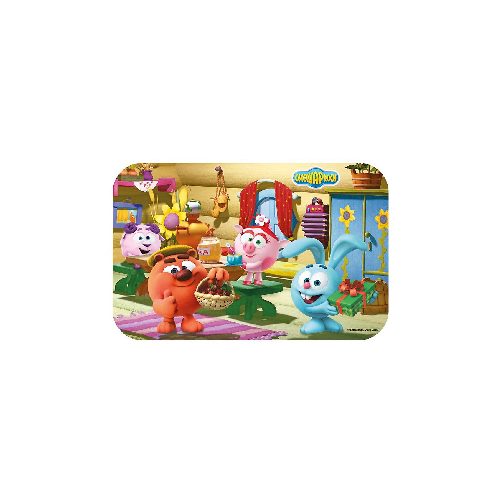 Салфетка В гостях 44*29 см, СмешарикиСалфетка В гостях 44*29 см, Смешарики<br><br>Характеристики:<br><br>• защитит стол от загрязнений<br>• яркое изображение персонажей мультфильма Смешарики<br>• материал: полипропилен<br>• размер салфетки: 44х29 см<br>• размер упаковки: 0,4х29х44 см<br>• вес: 50 грамм<br><br>Салфетка В гостях пригодится ребёнку во время приёма пищи. Она изготовлена из полипропилена, выдерживающего высокую температуру. Салфетка сохранит чистоту стола и поднимет настроение во время обеда. С наружной стороны изображены дружные герои мультсериала Смешарики. Размер салфетки - 44х29 см.<br><br>Салфетку В гостях 44*29 см, Смешарики вы можете купить в нашем интернет-магазине.<br><br>Ширина мм: 440<br>Глубина мм: 290<br>Высота мм: 4<br>Вес г: 50<br>Возраст от месяцев: 36<br>Возраст до месяцев: 108<br>Пол: Унисекс<br>Возраст: Детский<br>SKU: 5358597