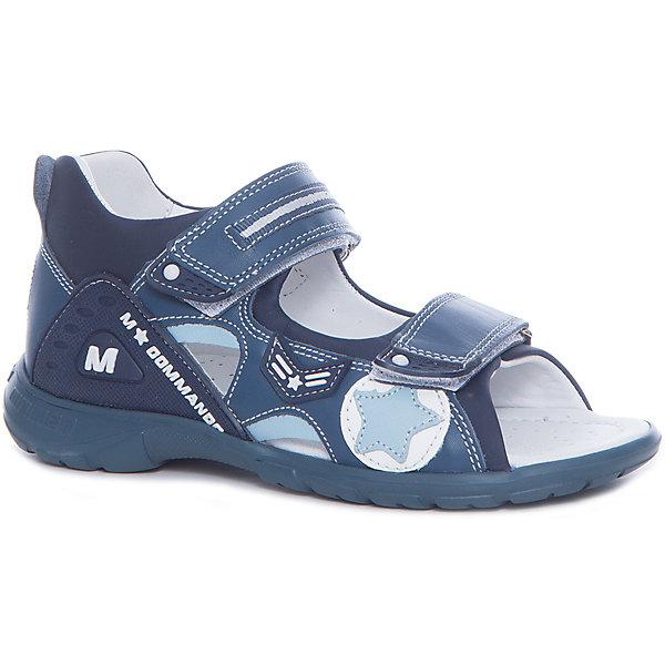 Сандалии для мальчика MINIMENОртопедическая обувь<br>Характеристики товара:<br><br>• цвет: синий<br>• пол: мужской<br>• внешний материал: натуральная кожа<br>• внутренний материал: натуральная кожа<br>• стелька: натуральная кожа<br>• подошва: полимер<br>• сезон: лето<br>• анатомические<br>• застежка: липучка<br>• тип сандалей: открытые<br>• легкие<br>• устойчивая подошва<br>• декорированы логотипом<br>• страна производства: Турция<br>• страна бренда: Турция<br><br>Качественная кожа, из которой выполнены сандалии Минимен, обеспечивает свободную циркуляцию воздуха и испарение влаги. Ножки вашего малыша будут в комфорте. сандалии очень легко надеваются. С помощью застежек можно регулировать оптимальную полноту. Нога будет зафиксирована в том положении, в котором ребенку удобно. <br><br>Правильно подобранная детская кожаная обувь обеспечит необходимый комфорт и удобство в процессе носки. Эта симпатичная обувь отлично впишется в летний гардероб ребенка. Она идеальна для прогулок и активной игры, а также превосходно подойдет в качестве сменной обуви для детского сада. Детская обувь от турецкого бренда Minimen разрабатывается не только дизайнерами, в её создании принимают участие и специалисты-медики. <br><br>Сандалии для мальчика от известного бренда Minimen (Минимен) можно купить в нашем интернет-магазине.<br><br>Ширина мм: 219<br>Глубина мм: 154<br>Высота мм: 121<br>Вес г: 343<br>Цвет: синий<br>Возраст от месяцев: 132<br>Возраст до месяцев: 144<br>Пол: Мужской<br>Возраст: Детский<br>Размер: 35,34,33,32,31,36<br>SKU: 5359902