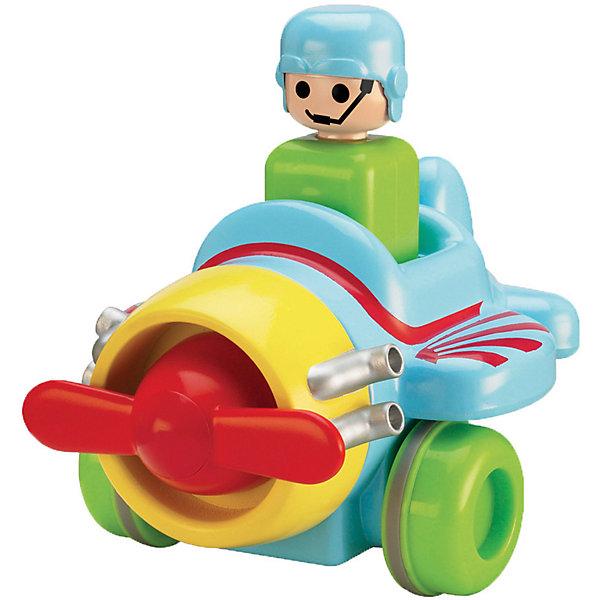 Самолёт Нажимай и гоняй, TOMYИнтерактивные игрушки для малышей<br>Самолет Нажимай и гоняй, TOMY (Томи).<br><br>Характеристика:<br><br>• Материал: пластик, металл. <br>• Размер упаковки: 13х16х13 см. <br>• Размер: 14 см.<br>• Подвижные колеса. <br>• Если нажать на голову водителя, машина поедет вперед. <br>• Яркий привлекательный дизайн. <br>• Не имеет острых углов. <br>• Развивает моторику, цветовосприятие. <br><br>Яркий самолетик обязательно привлечет внимание малышей и сделает игры крохи еще интереснее и веселее. Стоит только нажать на шлем пилота, как самолет быстро поедет вперед. Игрушка выполнена из высококачественных нетоксичных материалов, не имеет острых углов, абсолютно безопасна для детей. <br><br>Самолет Нажимай и гоняй, TOMY (Томи), можно купить в нашем интернет-магазине.<br><br>Ширина мм: 120<br>Глубина мм: 210<br>Высота мм: 170<br>Вес г: 80<br>Возраст от месяцев: 12<br>Возраст до месяцев: 60<br>Пол: Мужской<br>Возраст: Детский<br>SKU: 5361381