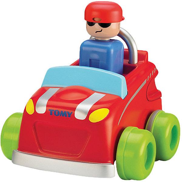 Машинка Нажимай и гоняй, TOMYИгрушечные машинки-каталки<br>Машинка Нажимай и гоняй, TOMY (Томи).<br><br>Характеристика:<br><br>• Материал: пластик, металл. <br>• Размер упаковки: 13х16х13 см. <br>• Размер: 14 см.<br>• Подвижные колеса. <br>• Если нажать на голову водителя, машина поедет вперед. <br>• Яркий привлекательный дизайн. <br>• Не имеет острых углов. <br>• Развивает моторику, цветовосприятие. <br><br>Яркая машинка обязательно привлечет внимание малышей и сделает игры крохи еще интереснее и веселее. Стоит только нажать на шлем водителя, как автомобильчик быстро поедет вперед. Игрушка выполнена из высококачественных нетоксичных материалов, не имеет острых углов, абсолютно безопасна для детей. <br><br>Машинку Нажимай и гоняй, TOMY (Томи), можно купить в нашем интернет-магазине.<br><br>Ширина мм: 120<br>Глубина мм: 210<br>Высота мм: 170<br>Вес г: 80<br>Возраст от месяцев: 12<br>Возраст до месяцев: 60<br>Пол: Мужской<br>Возраст: Детский<br>SKU: 5361382