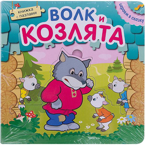 Книжка с пазлами Волк и козлята, Играем в сказкуКниги-пазлы<br>Книжка с пазлами Волк и козлята, Играем в сказку<br><br>Характеристики:<br><br>• в каждом листе есть картинка-пазл<br>• все пазлы можно соединить между собой<br>• яркие иллюстрации<br>• изготовлена из плотного картона<br>• количество страниц: 12<br>• тип обложки: картон<br>• иллюстрации: цветные<br>• издательство: Мозаика-Синтез<br>• серия: Играем в сказку<br>• ISBN: 978-5-43150-530-0<br>• размер: 17х2,6х17 см<br>• вес: 518 грамм<br><br>Книги из серии Играем в сказку подойдут не только для прочтения, но и для веселой игры. В книге есть семь карточек-пазлов. Достаньте их и предложите ребенку расставить их по порядку или рассказать по ним сказку. А может быть ваш малыш сам придумает интересную историю по картинкам! Книга сделана из плотного картона с красочными иллюстрациями. Книжка-пазл способствует развитию мелкой моторики, фантазии, внимания и речи.<br><br>Книжку с пазлами Волк и козлята, Играем в сказку вы можете купить в нашем интернет-магазине.<br><br>Ширина мм: 26<br>Глубина мм: 170<br>Высота мм: 170<br>Вес г: 518<br>Возраст от месяцев: 12<br>Возраст до месяцев: 36<br>Пол: Унисекс<br>Возраст: Детский<br>SKU: 5362896