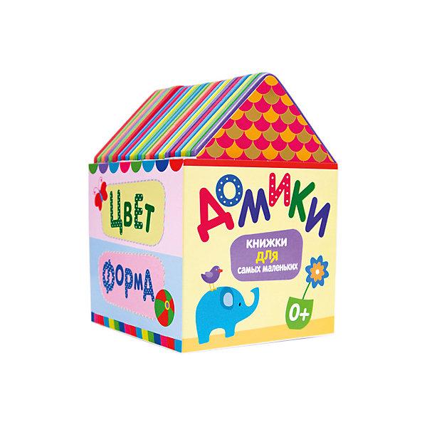 Комплект из 4 книг Для самых маленькихПервые книги малыша<br>Характеристики комплекта из 4 книг Для самых маленьких: <br><br>• возраст от: 1 года до 3 лет<br>• пол: для мальчиков и девочек<br>• комплект: 4 книжки.<br>• упаковка: картонная коробка<br>• страницы: плотный картон, ЭВА.<br>• размер: 15.5х11х12 см <br>• иллюстрации: цветные.<br>• тип обложки: твердый.<br>• бренд: Мозаика-Синтез<br>• страна происхождения: Китай<br><br>Комплект из 4 книг Домики из серии Книжки для самых маленьких предназначены для самых маленьких читателей. В наборе содержатся 4 книги, которые познакомят малышей с понятиями счета, цвета, формы, величины. Мягкие объемные книжки-игрушки из материала EVA приятно держать в руках; а яркие крупные картинки понравятся ребенку и помогут ему лучше усвоить полученные знания. Книжки из серии Домики можно использовать в качестве игрушек - они легко моются, не ломаются и не рвутся.<br><br>Комплект из 4 книг Для самых маленьких от торговой марки Мозаика-Синтез можно купить в нашем интернет-магазине.<br><br>Ширина мм: 120<br>Глубина мм: 110<br>Высота мм: 155<br>Вес г: 329<br>Возраст от месяцев: 12<br>Возраст до месяцев: 36<br>Пол: Унисекс<br>Возраст: Детский<br>SKU: 5362920