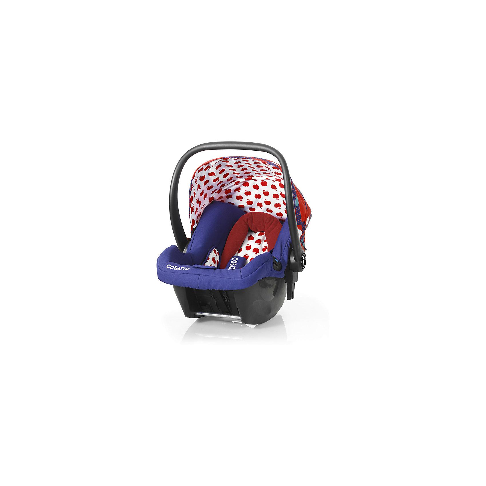 Автокресло Cosatto Hold 0-13 кг, Apple SeedГруппа 0+ (До 13 кг)<br>Характеристики:<br><br>• группа: 0+;<br>• вес ребенка: до 13 кг;<br>• возраст: от рождения до 18 месяцев;<br>• соответствует нормам безопасности  ECE R44/04;<br>• установка: против хода движения автомобиля;<br>• может крепиться штатным автомобильным ремнем или устанавливаться на одну из баз Cosatto (Isofix и для 3-точечного ремня);<br>• совместимо с шасси колясок Cosatto Ooba, Giggle 2, To &amp; Fro, Woop;<br>• можно использовать как переноску или люльку;<br>• 3-точечные внутренние ремни имеют 2 положения;<br>• плечевые и нагрудные подушечки;<br>• анатомический вкладыш;<br>• специальная подушка для головы;<br>• усиленная боковая защита;<br>• ударопрочный пластик;<br>• солнцезащитный съемный козырек из ткани;<br>• ручка для переноски;<br>• гипоаллергенный материал обивки;<br>• съемный чехол можно стирать при температуре 30 градусов;<br>• материал: пластик, полиэстер.<br><br>Габариты автокресла: 70х60х44 см.<br>Вес автокресла: 3 кг.<br><br>Автокресло разработано для безопасной перевозки малышей в салоне автомобиля. Представленную модель можно использовать не только как авто-люльку, а и устанавливать на шасси коляски, что очень удобно на прогулке за городом. Продуманная до мелочей система безопасности максимально защищает малыша во время движения. Автокресло устанавливается на сиденье и крепится при помощи штатного трехточечного ремня безопасности автомобиля либо при устанавливается на специальную базу (приобретается отдельно). <br><br>Автокресло Hold 0-13 кг., Cosatto, Apple Seed можно купить в нашем интернет-магазине.<br><br>Ширина мм: 740<br>Глубина мм: 440<br>Высота мм: 380<br>Вес г: 6000<br>Возраст от месяцев: 0<br>Возраст до месяцев: 12<br>Пол: Унисекс<br>Возраст: Детский<br>SKU: 5362943