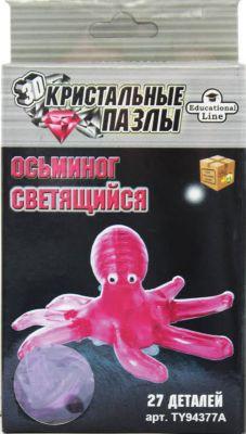 Educational Line Кристаллический пазл-cветильник 3D Осьминог L