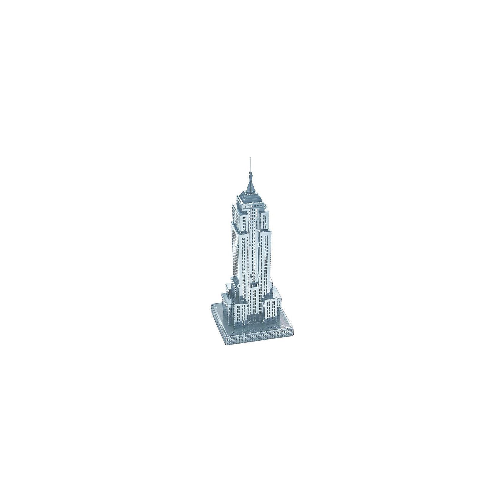 Сборная модель-3D Небоскреб Empire State Building LМеталлические конструкторы<br>Характеристики товара:<br><br>• возраст: от 12 лет;<br>• материал: металл;<br>• в комплекте: детали, инструкция;<br>• высота модели: 9 см;<br>• размер упаковки: 17х12х1 см;<br>• вес упаковки: 32 гр.;<br>• страна производитель: Китай.<br><br>Сборная 3D модель «Небоскреб Empire State Building L» Educational Line позволит собрать из деталей объемную модель известного здания в Нью-Йорке. Детали соединяются между собой без дополнительных инструментов и клея, а при помощи усиков, вставляющихся в соответствующие прорези.<br><br>В процессе сборки у ребенка развивается мелкая моторика рук, интеллект, логическое мышление, усидчивость.<br><br>Сборную 3D модель «Небоскреб Empire State Building L» Educational Line можно приобрести в нашем интернет-магазине.<br><br>Ширина мм: 17<br>Глубина мм: 12<br>Высота мм: 10<br>Вес г: 28<br>Возраст от месяцев: 144<br>Возраст до месяцев: 2147483647<br>Пол: Унисекс<br>Возраст: Детский<br>SKU: 5362970