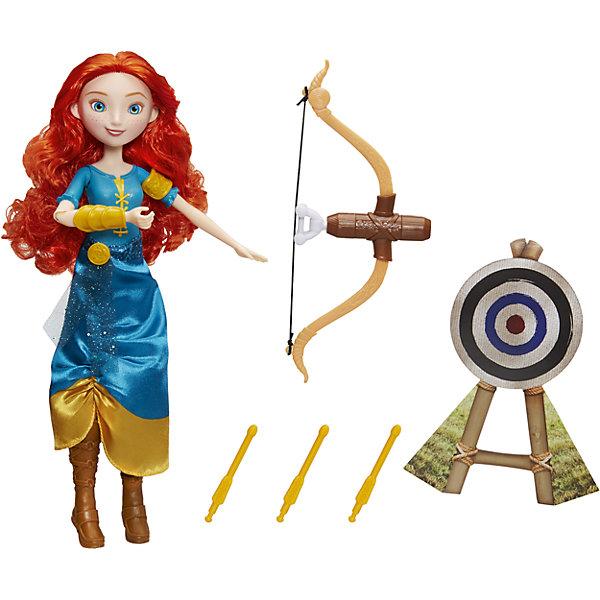 Модная кукла принцесса и ее хобби, Принцессы Дисней, МеридаИгрушки<br>Характеристики:<br><br>• Вид игр: сюжетно-ролевые<br>• Пол: для девочек<br>• Коллекция: Принцессы Диснея<br>• Материал: пластик, текстиль<br>• Высота куклы: 28 см<br>• Комплектация: кукла, аксессуары<br>• Подвижные руки и ноги <br>• Вес в упаковке: 240 г<br>• Размеры упаковки (Г*Ш*В): 20*8*32 см<br>• Упаковка: картонная коробка с блистером<br><br>Модная кукла принцесса и ее хобби, Принцессы Дисней, Мерида – это коллекция любимых принцесс Диснея от Хасбро, представленных в новом образе. У Мериды любимое занятие – охота, поэтому в наборе с ней предусмотрены лук и стрелы. Кукла и аксессуары выполнены из экологически безопасных материалов – пластика и текстиля. Игры с такой куклой будут способствовать развитию фантазии, воображения и памяти. Игрушка упакована в коробку с блистером. Модная кукла принцесса и ее хобби, Принцессы Дисней, Мерида – это великолепный подарок для маленькой поклонницы героинь Диснея!<br><br>Модную куклу принцессу и ее хобби, Принцессы Дисней, Мерида можно купить в нашем интернет-магазине.<br><br>Ширина мм: 64<br>Глубина мм: 203<br>Высота мм: 324<br>Вес г: 155<br>Возраст от месяцев: 36<br>Возраст до месяцев: 144<br>Пол: Женский<br>Возраст: Детский<br>SKU: 5363489
