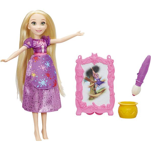 Модная кукла принцесса и ее хобби, Принцессы Дисней, РапунцельИгрушки<br>Характеристики:<br><br>• Вид игр: сюжетно-ролевые<br>• Пол: для девочек<br>• Коллекция: Принцессы Диснея<br>• Материал: пластик, текстиль<br>• Высота куклы: 28 см<br>• Комплектация: кукла, аксессуары<br>• Проявляющийся принт на платье<br>• Подвижные руки и ноги <br>• Вес в упаковке: 240 г<br>• Размеры упаковки (Г*Ш*В): 20*8*32 см<br>• Упаковка: картонная коробка с блистером<br><br>Модная кукла принцесса и ее хобби, Принцессы Дисней, Рапунцель – это коллекция любимых принцесс Диснея от Хасбро, представленных в новом образе. Рапунцель увлекается художественным творчеством, поэтому у нее есть волшебный мольберт и кисти. Если мольберт смочить водой, то на нем проявится картина. Кукла и аксессуары выполнены из экологически безопасных материалов – пластика и текстиля. Игры с такой куклой будут способствовать развитию фантазии, воображения и памяти. Игрушка упакована в коробку с блистером. Модная кукла принцесса и ее хобби, Принцессы Дисней, Рапунцель – это великолепный подарок для маленькой поклонницы героинь Диснея!<br><br>Модную куклу принцессу и ее хобби, Принцессы Дисней, Рапунцель можно купить в нашем интернет-магазине.<br>Ширина мм: 64; Глубина мм: 203; Высота мм: 324; Вес г: 155; Возраст от месяцев: 36; Возраст до месяцев: 144; Пол: Женский; Возраст: Детский; SKU: 5363490;