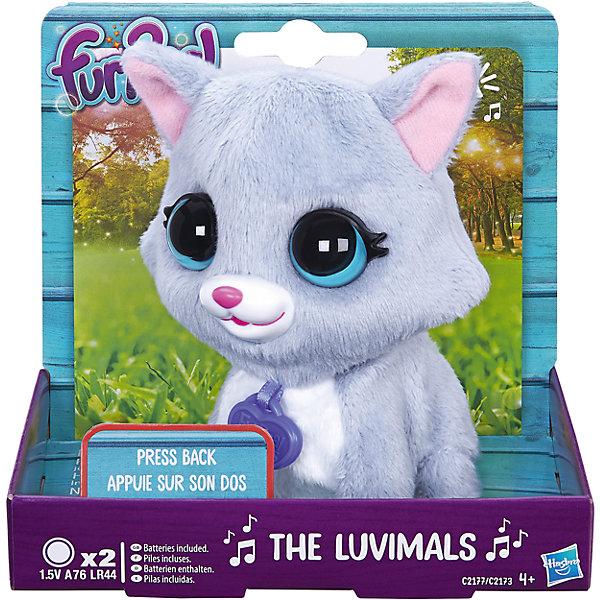Котенок, FurReal Friends, HasbroМягкие игрушки животные<br>Характеристики:<br><br>• Вид игр: сюжетно-ролевые, коллекционирование<br>• Пол: для девочек<br>• Коллекция: Поющие зверята<br>• Материал: текстиль, пластик<br>• Батарейки: 2 х A76 / LR44 (предусмотрены в комплекте)<br>• Высота игрушки: 9-11 см<br>• Поворачивают голову<br>• Умеют петь<br>• Вес в упаковке: 130 г<br>• Размеры упаковки (Д*Ш*В): 11,4*10,2*12,7 см<br>• Упаковка: картонная коробка <br><br>Поющие зверята, Furreal, C2173/C2174 – это коллекция милых пушистых животных от Хасбро, которые умеют петь. Все зверушки выполнены из плюша с ворсом, за счет чего они очень приятные на ощупь, большие выразительные глазки придают игрушкам очень миловидный облик. У каждого зверька на шее имеется пластиковый кулон с брендовой надписью. Игрушки умеют не только петь соло, но и дуэтом. Благодаря компактному размеру, их можно брать с собой в дорогу или в качестве талисмана. Котенок выполнен из плюша серого цвета, у него белые грудка и лапки и большие зеленые глаза. Сюжетно-ролевые игры с музыкальными игрушками способствуют развитию художественно-эстетического и музыкального вкуса, а разыгрываемые сюжетно-ролевые игры с домашними любимцами развивают чувство ответственности и заботы. <br><br>Поющих зверят, Furreal, C2173/C2174 можно купить в нашем интернет-магазине.<br><br>Ширина мм: 102<br>Глубина мм: 127<br>Высота мм: 114<br>Вес г: 151<br>Возраст от месяцев: 48<br>Возраст до месяцев: 144<br>Пол: Женский<br>Возраст: Детский<br>SKU: 5363495