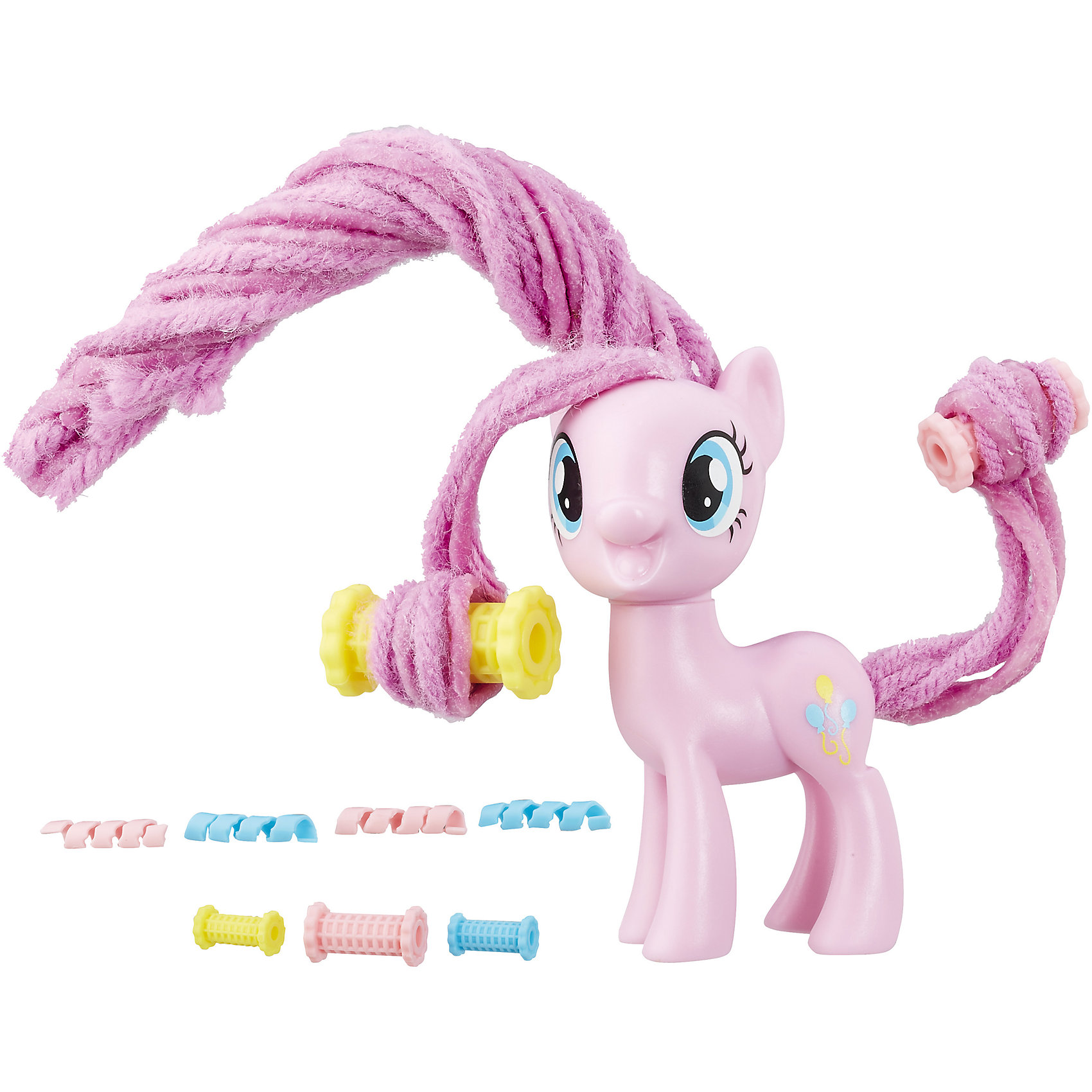 Пони с праздничными прическами, My little Pony, Пинки Пай B8809/B9618Игрушки<br>Характеристики:<br><br>• Вид игр: сюжетно-ролевые, коллекционирование<br>• Пол: для девочек<br>• Коллекция: My little Pony<br>• Материал: пластик<br>• Высота фигурки: 7,5 см<br>• Комплектация: фигурка пони, бигуди, заколки для прически<br>• Гриву и хвост можно завивать и укладывать в разные прически<br>• Голова пони поворачивается в стороны<br>• На фигурке имеется сканируемая метка, которая открывает доступ и дополнительные возможности в бесплатном мобильном приложении My Little Pony Friendship Celebration<br>• Вес в упаковке: 210 г<br>• Размеры упаковки (Г*Ш*В): 27*7,5*24 см<br>• Упаковка: блистер на картонной подложке<br><br>Пони с праздничными прическами: Пинки Пай, My little Pony, B8809/B9618 – это новая коллекция бренда My little Pony от Хасбро. В коллекции представлены фигурки Эпплджек, Рарити и Пинки Пай. Особенности этой коллекции заключаются в том, что у фигурок пони гривы и хвостики выполнены из материала, который можно завивать плойкой или накручивать на бигуди. Эти инструменты для создания локонов предусмотрены в комплекте. Благодаря такой завивки можно создать красивые локоны у пони, которые долго держаться. Для создания праздничной прически в зависимости от комплекта в наборе предусмотрены разноцветные заколки и ленточки. Фигурки и аксессуары выполнены из экологически безопасного и прочного пластика, который устойчив к физическим и механическим повреждениям, окрашены нетоксичными яркими красками, которые не изменяют свой цвет даже при длительной эксплуатации. Игры с такими фигурками будут способствовать развитию фантазии, воображения, научат девочку следить за своим внешним видом. Пони с праздничными прическами: Пинки Пай, My little Pony, B8809/B9618 – это замечательный подарок для девочки к любому празднику!<br><br>Пони с праздничными прическами: Пинки Пай, My little Pony, B8809/B9618 можно купить в нашем интернет-магазине.<br><br>Ширина мм: 52<br>Глубина мм: 206<br>Высота