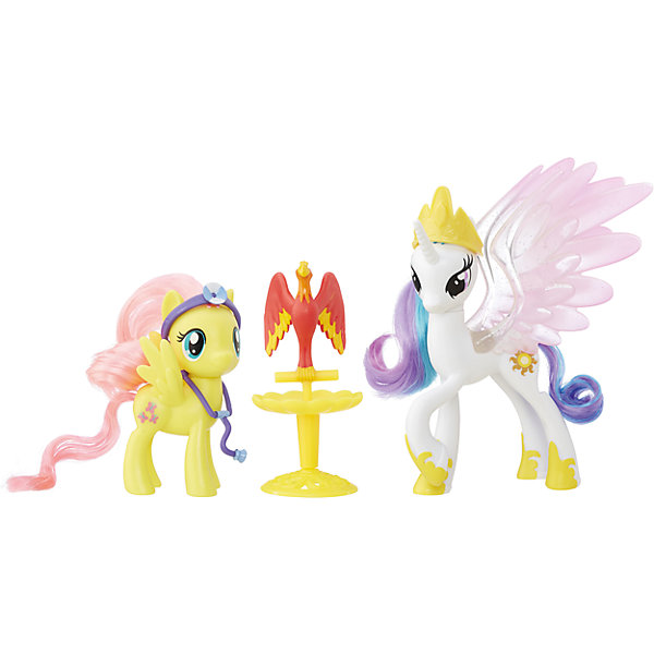 Пони-модницы парочки, My little Pony, Принцесса Селестия и Флаттершай B9160/B9849Фигурки из мультфильмов<br>Характеристики:<br><br>• Вид игр: сюжетно-ролевые, коллекционирование<br>• Пол: для девочек<br>• Коллекция: My little Pony<br>• Материал: пластик<br>• Высота фигурки: 7,5 см<br>• Комплектация: две фигурки пони, птица Филамина, стойка для птицы, медицинские аксессуары<br>• Вес в упаковке: 290 г<br>• Размеры упаковки (Г*Ш*В): 27*7,5*24 см<br>• Упаковка: блистер на картонной подложке<br><br>Пони-модницы парочки: Принцесса Селестия и Флаттершай, My little Pony, B9160/B9849 – это новая коллекция бренда My little Pony от Хасбро. В коллекции представлены фигурки семейные пары с малышом-пони и аксессуарами для ухода за ним. В комплекте предусмотрена аксессуары и инструменты для ролевой игры: фигурки принцессы Селестии и Флаттершай, которые ухаживают за больной птицей Филаминой. Фигурки и аксессуары выполнены из экологически безопасного и прочного пластика, который устойчив к физическим и механическим повреждениям, окрашены нетоксичными яркими красками, которые не изменяют свой цвет даже при длительной эксплуатации. Игры с такими фигурками будут способствовать развитию фантазии и воображения. Пони-модницы парочки: Принцесса Селестия и Флаттершай, My little Pony, B9160/B9849 – это замечательный подарок для девочки к любому празднику!<br><br>Пони-модниц парочки: Принцесса Селестия и Флаттершай, My little Pony, B9160/B9849 можно купить в нашем интернет-магазине.<br>Ширина мм: 67; Глубина мм: 254; Высота мм: 235; Вес г: 363; Цвет: желтый/белый; Возраст от месяцев: 36; Возраст до месяцев: 120; Пол: Женский; Возраст: Детский; SKU: 5363520;