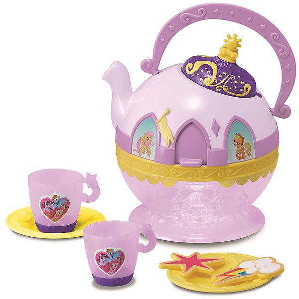 Набор посудки My Little Pony, HTIMy little Pony<br>Набор посудки My Little Pony (Май литл Пони), HTI.<br><br>Характеристика: <br><br>• Материал: пластик. <br>• Размер: 30x23x30 см. <br>• Комплектация: чайник, 2 чашки, 2 блюдца, аксессуары (2 шт). <br>• Звуковые эффекты.<br>• Элемент питания: 3 ААА батарейки (в комплекте). <br>• Яркий привлекательный дизайн. <br>• Чайник оформлен изображениями My Little Pony. <br><br>Красивая посудка - то что нужно любой маленькой хозяйке! Оригинальный чайный сервиз, оформленный изображениями My Little Pony (Моя маленькая Пони) таит в себе секрет: подними пластиковые шторки на окошках и слушай веселую мелодию. Все детали набора выполнены из высококачественного гипоаллергенного пластика безопасного для детей. <br><br>Набор посудки My Little Pony (Май литл Пони), HTI, можно купить в нашем интернет-магазине.<br>Ширина мм: 278; Глубина мм: 301; Высота мм: 170; Вес г: 600; Возраст от месяцев: 36; Возраст до месяцев: 168; Пол: Женский; Возраст: Детский; SKU: 5366514;