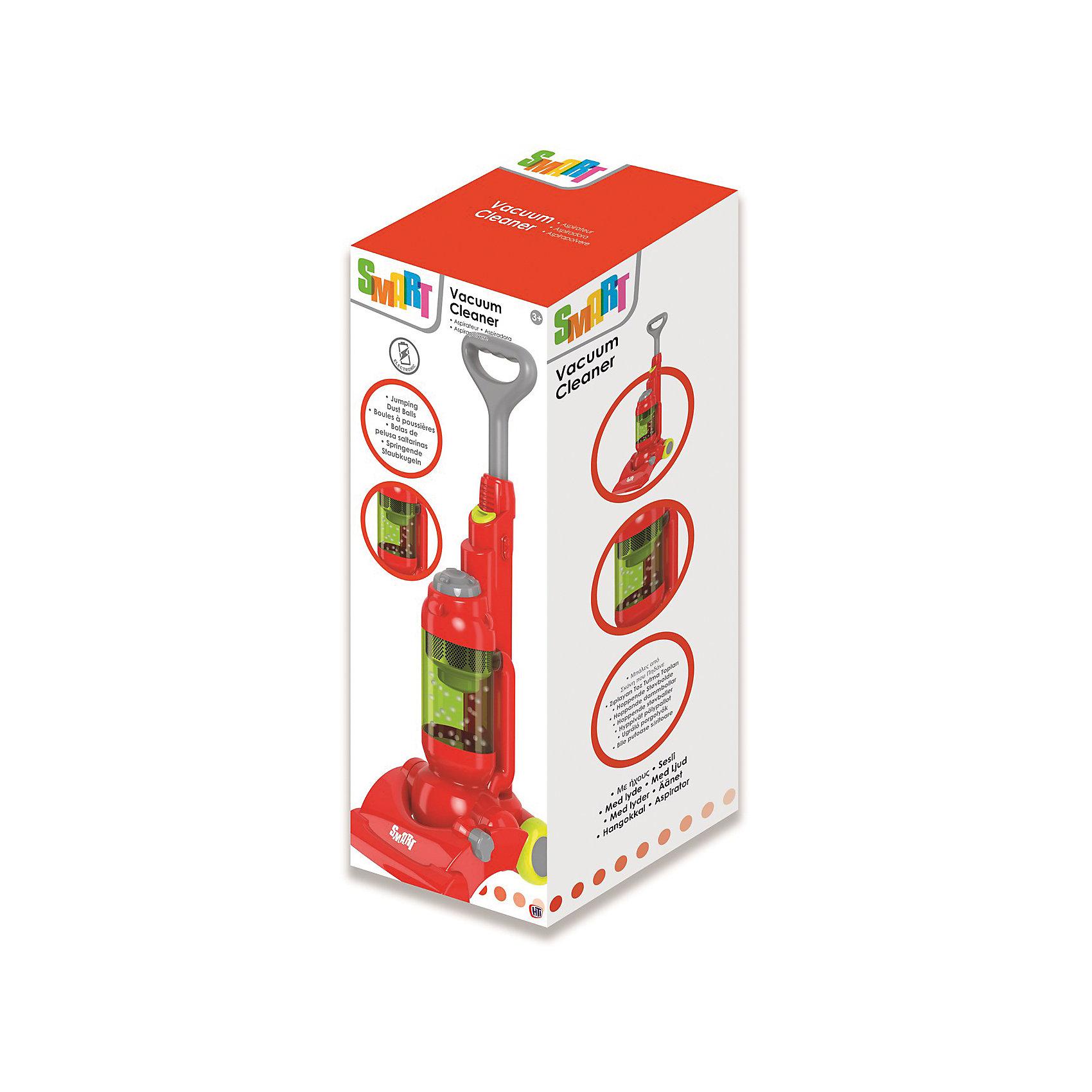 Стильный пылесос Smart, HTIИгрушечная бытовая техника<br>Стильный пылесос Smart, HTI.<br><br>Характеристика: <br><br>• Материал: пластик. <br>• Размер упаковки: 20x40х35 см. <br>• Размер игрушки: 51х19,3х18,6 см. <br>• Комплектация: пылесос, подставка на колесах. <br>• Во время работы в прозрачном цилиндре прыгают мелкие разноцветные шарики.<br>• Легкий и маневренный. <br>• Яркий привлекательный дизайн. <br>• Элемент питания: 2 АА батарейки (не входят в комплект). <br>• Световые и звуковые эффекты. <br><br>Стильный пылесос Smart приведет в восторг вашу юную хозяйку! Реалистичные звуковые эффекты и маленькие разноцветные шарики, прыгающие в прозрачном цилиндре, сделают игры девочки еще интереснее и увлекательнее. Легкий и маневренный пылесос оснащен удобной подставкой на колесиках, изготовлен из высококачественного прочного пластика безопасного для детей. <br><br>Стильный пылесос Smart, HTI, можно купить в нашем интернет-магазине.<br><br>Ширина мм: 180<br>Глубина мм: 760<br>Высота мм: 170<br>Вес г: 1200<br>Возраст от месяцев: 36<br>Возраст до месяцев: 168<br>Пол: Женский<br>Возраст: Детский<br>SKU: 5366526