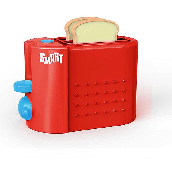Тостер Smart, HTIИгрушечная бытовая техника<br>Тостер Smart, HTI.<br><br>Характеристика: <br><br>• Материал: пластик. <br>• Размер упаковки: 18,5х15,5х9,5 см. <br>• Размер тостера: 14х11х10 см.<br>• Комплектация: тостер, 2 куска хлеба. <br>• Яркий привлекательный дизайн. <br>• Элемент питания: 2 ААА батарейки (не входят в комплект). <br>• Световые и звуковые эффекты. <br><br>Яркий тостер Smart займет достойное место на любой игрушечной кухне! Игрушка прекрасно детализирована и выглядит, как настоящий тостер. Благодаря световым эффектам кажется, что элемент накаливания, действительно, работает. Реалистичные звуки сделают игры еще интереснее и увлекательнее. Тостер изготовлен из высококачественного прочного пластика безопасного для детей.<br><br>Тостер Smart, HTI, можно купить в нашем интернет-магазине.<br><br>Ширина мм: 182<br>Глубина мм: 156<br>Высота мм: 107<br>Вес г: 320<br>Возраст от месяцев: 36<br>Возраст до месяцев: 168<br>Пол: Женский<br>Возраст: Детский<br>SKU: 5366530