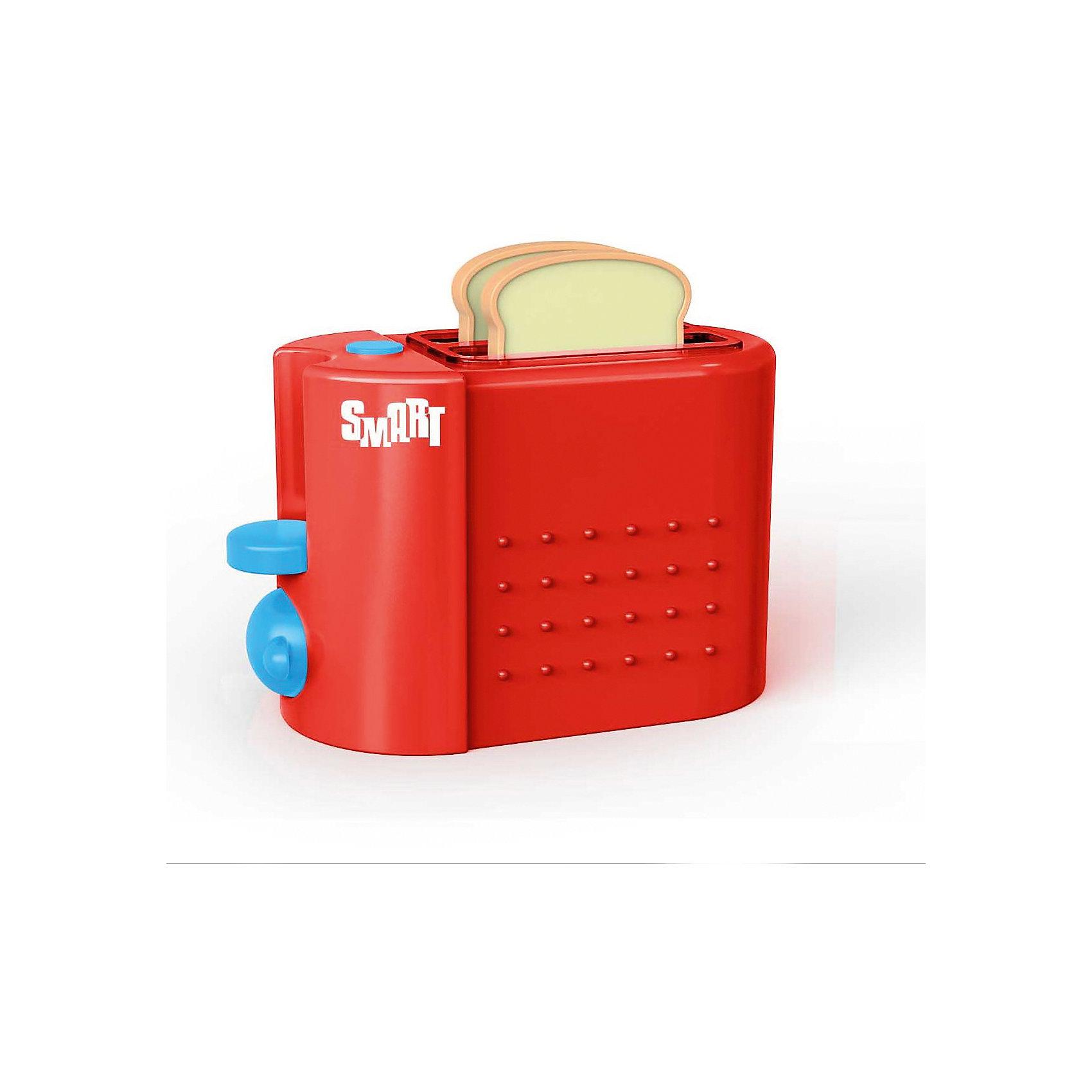 Тостер Smart, HTIТостер Smart, HTI.<br><br>Характеристика: <br><br>• Материал: пластик. <br>• Размер упаковки: 18,5х15,5х9,5 см. <br>• Размер тостера: 14х11х10 см.<br>• Комплектация: тостер, 2 куска хлеба. <br>• Яркий привлекательный дизайн. <br>• Элемент питания: 2 ААА батарейки (не входят в комплект). <br>• Световые и звуковые эффекты. <br><br>Яркий тостер Smart займет достойное место на любой игрушечной кухне! Игрушка прекрасно детализирована и выглядит, как настоящий тостер. Благодаря световым эффектам кажется, что элемент накаливания, действительно, работает. Реалистичные звуки сделают игры еще интереснее и увлекательнее. Тостер изготовлен из высококачественного прочного пластика безопасного для детей.<br><br>Тостер Smart, HTI, можно купить в нашем интернет-магазине.<br><br>Ширина мм: 182<br>Глубина мм: 156<br>Высота мм: 107<br>Вес г: 320<br>Возраст от месяцев: 36<br>Возраст до месяцев: 168<br>Пол: Женский<br>Возраст: Детский<br>SKU: 5366530