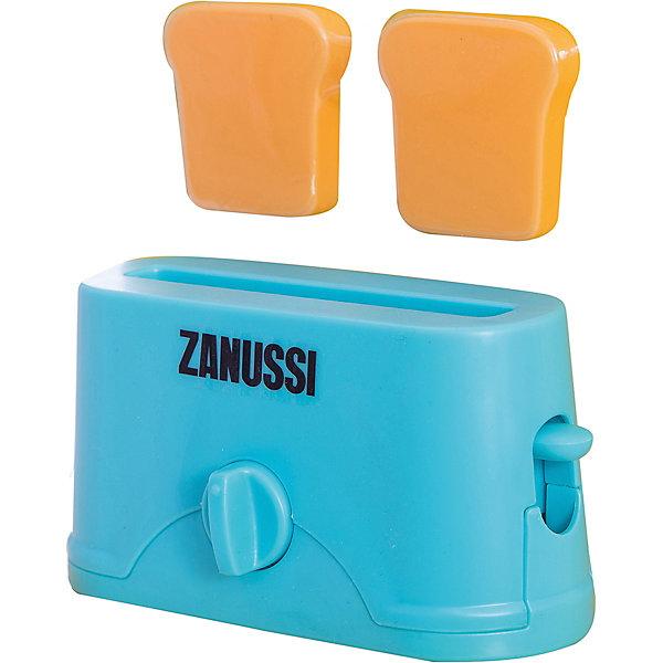 Тостер Zanussi, HTIИгрушечная бытовая техника<br>Тостер Zanussi, HTI.<br><br>Характеристика: <br><br>• Материал: пластик. <br>• Размер: 18,9x17x8 см<br>• Комплектация: тостер, 2 куска хлеба. <br>• Яркий привлекательный дизайн. <br>• Элемент питания: 2 ААА батарейки (не входят в комплект). <br>• Световые и звуковые эффекты. <br><br>Яркий Тостер Zanussi займет достойное место на любой игрушечной кухне! Игрушка прекрасно детализирована и выглядит, как настоящий тостер. При нажатии на рычаг слышится звук таймера, а потом выпрыгивают готовые тосты, световые эффекты включаются кнопкой. Тостер изготовлен из высококачественного прочного пластика безопасного для детей.<br><br>Тостер Zanussi, HTI, можно купить в нашем интернет-магазине.<br>Ширина мм: 189; Глубина мм: 170; Высота мм: 80; Вес г: 200; Возраст от месяцев: 36; Возраст до месяцев: 168; Пол: Женский; Возраст: Детский; SKU: 5366536;