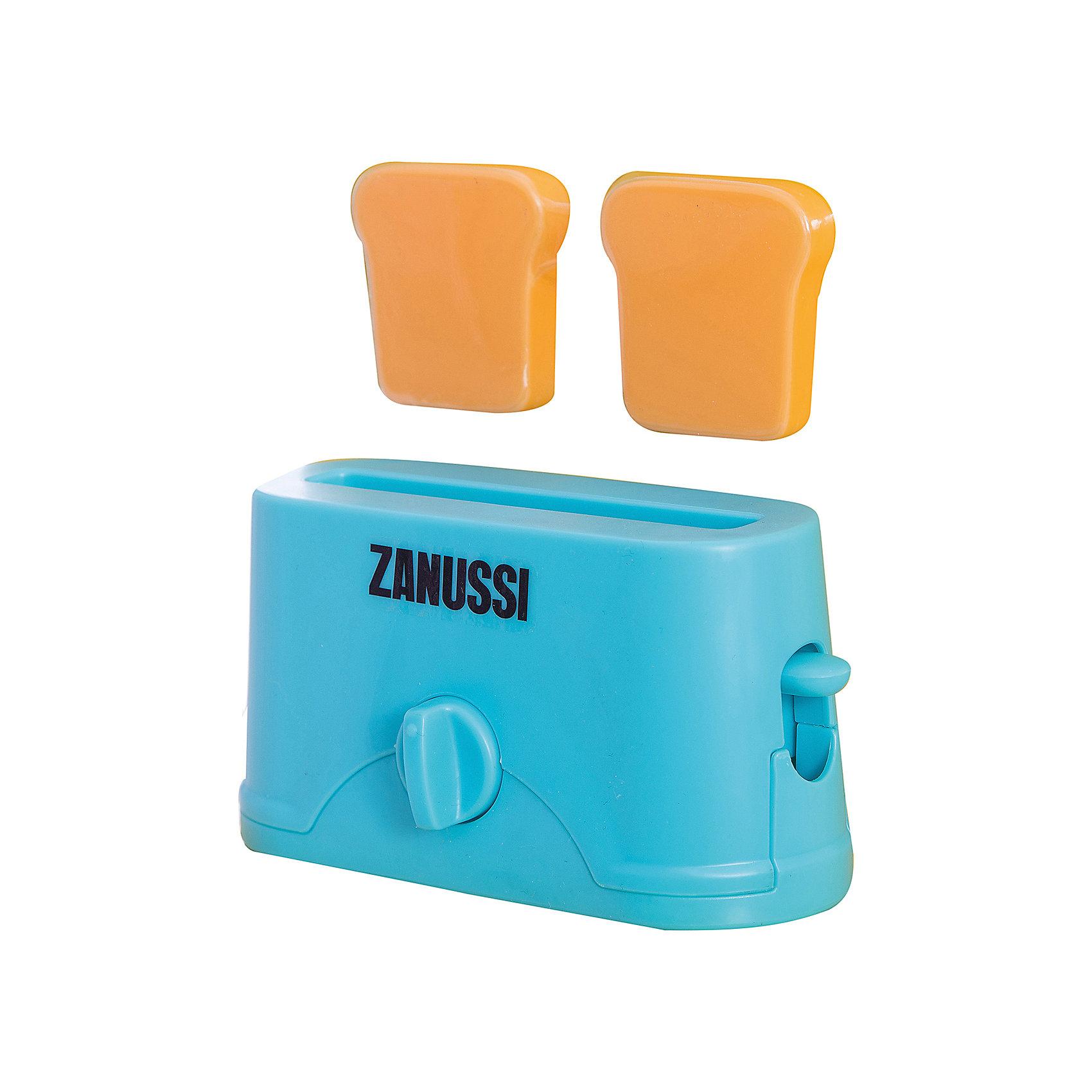 Тостер Zanussi, HTIИгрушечная бытовая техника<br>Тостер Zanussi, HTI.<br><br>Характеристика: <br><br>• Материал: пластик. <br>• Размер: 18,9x17x8 см<br>• Комплектация: тостер, 2 куска хлеба. <br>• Яркий привлекательный дизайн. <br>• Элемент питания: 2 ААА батарейки (не входят в комплект). <br>• Световые и звуковые эффекты. <br><br>Яркий Тостер Zanussi займет достойное место на любой игрушечной кухне! Игрушка прекрасно детализирована и выглядит, как настоящий тостер. При нажатии на рычаг слышится звук таймера, а потом выпрыгивают готовые тосты, световые эффекты включаются кнопкой. Тостер изготовлен из высококачественного прочного пластика безопасного для детей.<br><br>Тостер Zanussi, HTI, можно купить в нашем интернет-магазине.<br><br>Ширина мм: 189<br>Глубина мм: 170<br>Высота мм: 80<br>Вес г: 200<br>Возраст от месяцев: 36<br>Возраст до месяцев: 168<br>Пол: Женский<br>Возраст: Детский<br>SKU: 5366536