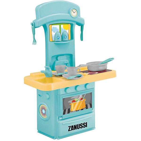 Электронная мини-кухня Zanussi, HTIДетские кухни<br>Электронная мини-кухня Zanussi, HTI.<br><br>Характеристика: <br><br>• Материал: пластик. <br>• Размер: 47x12х28 см. <br>• Высота игрушки: 60 см. <br>• Комплектация: кухня с мойкой и плитой, 2 чашки, кастрюля, вилка, ложка, солонка, перечница и другие аксессуары (всего 14 шт). <br>• Дверцы шкафа открываются. <br>• Яркий привлекательный дизайн. <br>• Звуковые и световые эффекты. <br>• Элемент питания: 3 ААА батарейки (не входят в комплект). <br><br>Яркая функциональная мини-кухня приведет в восторг любую девочку! В наборе есть все, чтобы осчастливить и заинтересовать вашу юную хозяйку. Мойка, плита, открывающиеся дверцы, посуда и аксессуары сделают игры еще увлекательнее и интереснее! Все детали набора выполнены из высококачественного пластика, в производстве которого использованы только нетоксичные качественные красители. <br><br>Электронная мини-кухня Zanussi, HTI, можно купить в нашем интернет-магазине.<br><br>Ширина мм: 427<br>Глубина мм: 286<br>Высота мм: 125<br>Вес г: 1100<br>Возраст от месяцев: 36<br>Возраст до месяцев: 168<br>Пол: Женский<br>Возраст: Детский<br>SKU: 5366538