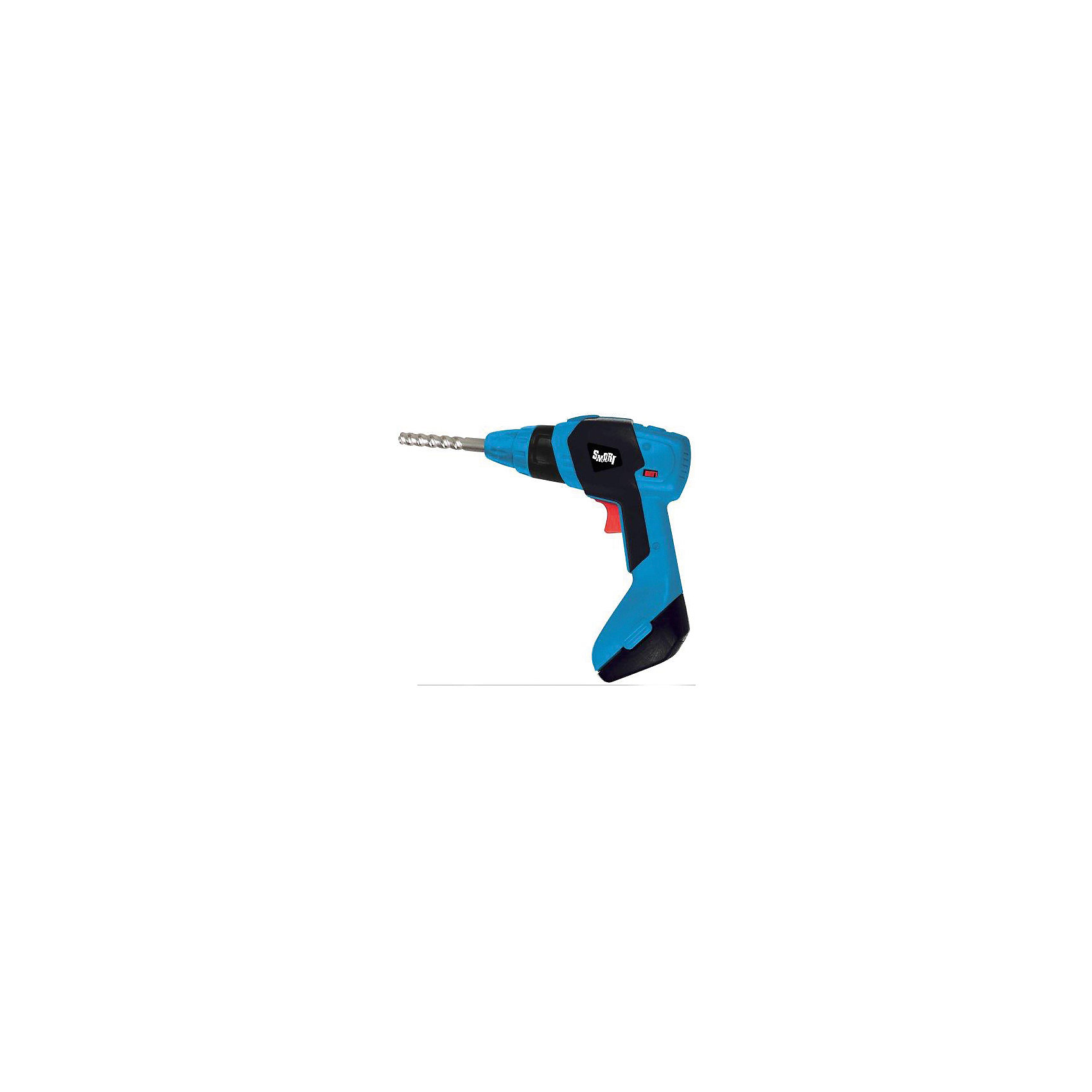 Дрель с набором сверл Smart, HTIМастерская и инструменты<br>Дрель с набором сверл Smart, HTI.<br><br>Характеристика: <br><br>• Материал: пластик. <br>• Размер упаковки: 25х22х6 см. <br>• Комплектация: дрель, сверла (3 шт.)<br>• Элемент питания: 2 батарейки типа 1,5V AA/LR6 (в комплект не входят).<br>• Яркий привлекательный дизайн.<br>• Звуковые эффекты. <br><br>Дрель с набором сверл Smart станет настоящей находкой для вашего юного строителя! Инструмент прекрасно детализирован и очень похож на настоящий. Нажав на кнопку, можно услышать реалистичные звуки и вибрации. Игрушка изготовлена из прочного высококачественного пластика безопасного для детей. <br><br>Дрель с набором сверл Smart, HTI, можно купить в нашем интернет-магазине.<br><br>Ширина мм: 250<br>Глубина мм: 220<br>Высота мм: 60<br>Вес г: 300<br>Возраст от месяцев: 36<br>Возраст до месяцев: 168<br>Пол: Мужской<br>Возраст: Детский<br>SKU: 5366547