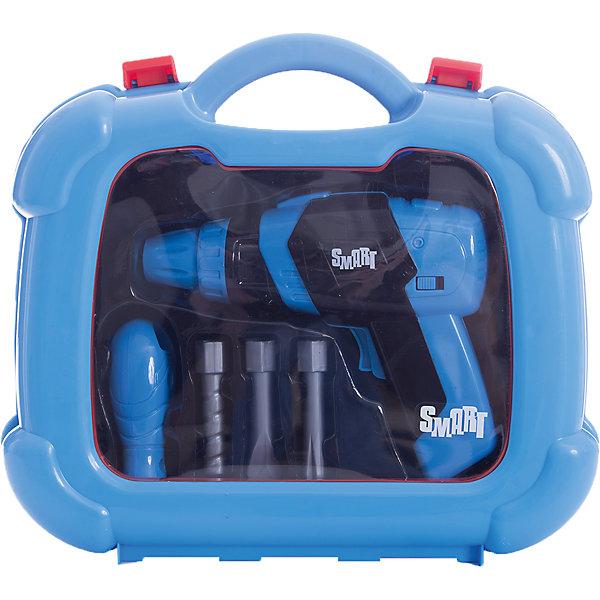 Набор инструментов Smart, HTIНаборы инструментов<br>Набор инструментов Smart, HTI.<br><br>Характеристика: <br><br>• Материал: пластик. <br>• Размер упаковки: 28x24,4x8,5 см. <br>• Комплектация: дрель, отвёртка, насадки, чемоданчик. <br>• Удобные застежки. <br>• Ручка для переноски. <br>• Реалистичная детализация. <br><br>Набор инструментов - то, что нужно каждому юному строителю. В этом чемоданчике есть множество аксессуаров, с которыми ваш малыш почувствует себя настоящим мастером. Все детали набора отлично проработаны и выглядят как настоящие. Изготовлены из высококачественного прочного пластика безопасного для детей. <br><br>Набор инструментов Smart, HTI, можно купить в нашем интернет-магазине.<br><br>Ширина мм: 240<br>Глубина мм: 250<br>Высота мм: 75<br>Вес г: 500<br>Возраст от месяцев: 36<br>Возраст до месяцев: 168<br>Пол: Мужской<br>Возраст: Детский<br>SKU: 5366548