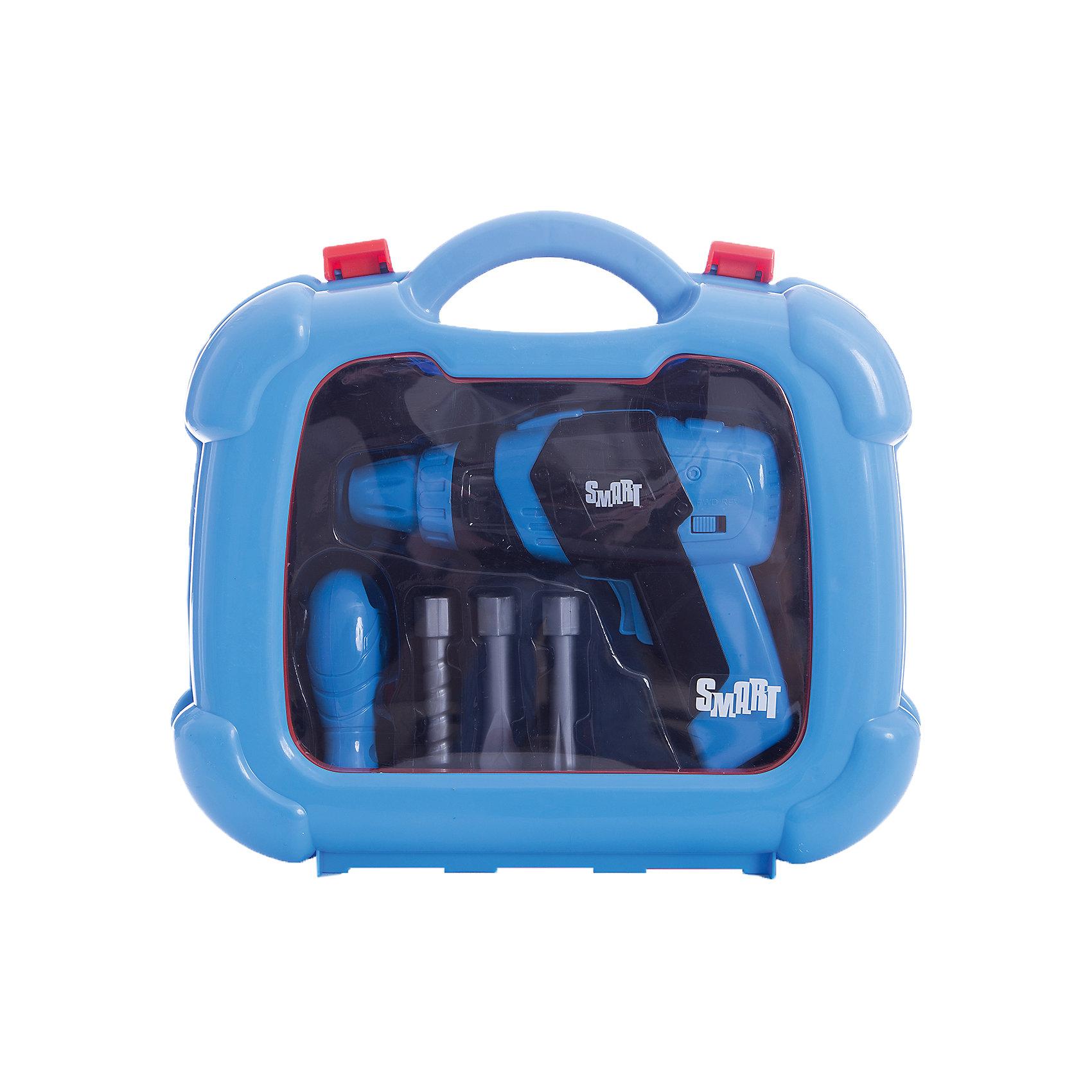 Набор инструментов Smart, HTIСюжетно-ролевые игры<br>Набор инструментов Smart, HTI.<br><br>Характеристика: <br><br>• Материал: пластик. <br>• Размер упаковки: 28x24,4x8,5 см. <br>• Комплектация: дрель, отвёртка, насадки, чемоданчик. <br>• Удобные застежки. <br>• Ручка для переноски. <br>• Реалистичная детализация. <br><br>Набор инструментов - то, что нужно каждому юному строителю. В этом чемоданчике есть множество аксессуаров, с которыми ваш малыш почувствует себя настоящим мастером. Все детали набора отлично проработаны и выглядят как настоящие. Изготовлены из высококачественного прочного пластика безопасного для детей. <br><br>Набор инструментов Smart, HTI, можно купить в нашем интернет-магазине.<br><br>Ширина мм: 240<br>Глубина мм: 250<br>Высота мм: 75<br>Вес г: 500<br>Возраст от месяцев: 36<br>Возраст до месяцев: 168<br>Пол: Мужской<br>Возраст: Детский<br>SKU: 5366548