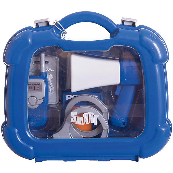 Набор полицейского в кейсе, HTIНаборы полицейского, пожарного<br>Набор полицейского в кейсе, HTI.<br><br>Характеристика: <br><br>• Материал: пластик. <br>• Размер упаковки: 28x24,4x8,5 см. <br>• Комплектация: наручники, жетон, лента, фонарик, рация, рупор. <br>• Удобные застежки. <br>• Ручка для переноски. <br>• Реалистичная детализация. <br><br>В этом наборе есть все, чтобы почувствовать себя настоящим полицейским! Все аксессуары прекрасно детализированы, изготовлены из высококачественного прочного пластика. Отличный вариант для увлекательных сюжетно-ролевых игр. <br><br>Набор полицейского в кейсе, HTI, можно купить в нашем интернет-магазине.<br>Ширина мм: 235; Глубина мм: 250; Высота мм: 80; Вес г: 400; Возраст от месяцев: 36; Возраст до месяцев: 168; Пол: Мужской; Возраст: Детский; SKU: 5366550;
