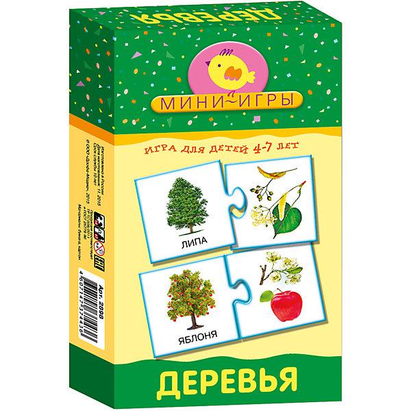 Мини-игра Деревья, Дрофа-МедиаОкружающий мир<br>Характеристики мини-игры Деревья:<br><br>- возраст: от 4 до 7 лет<br>- пол: для мальчиков и девочек<br>- комплект: 30 карточек, правила.<br>- количество предполагаемых игроков: 2 и более.<br>- время игры: 10-20 мин.<br>- материал: картон.<br>- размер упаковки: 20 * 12 * 3.5 см.<br>- упаковка: картонная коробка.<br>- бренд: Дрофа-медиа<br>- страна обладатель бренда: Россия.<br><br>Настольная мини- игра Деревья расскажет детям о том, какими бывают деревья, их листья и плоды. Всего в игре представлено 15 лиственных и хвойных деревьев. Ребенку предстоит самостоятельно подобрать соответствующую картинку с изображением плода или листика конкретного дерева. Игра состоит из 30 карточек, которые вставляются друг в друга как элементыпазла.<br><br>Мини-игру Деревья издательства Дрофа-Медиа можно купить в нашем интернет-магазине.<br>Ширина мм: 120; Глубина мм: 35; Высота мм: 200; Вес г: 150; Возраст от месяцев: 48; Возраст до месяцев: 2147483647; Пол: Унисекс; Возраст: Детский; SKU: 5367075;
