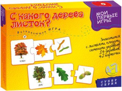 Развивающая игра С какого дерева листок , Дрофа-Медиа