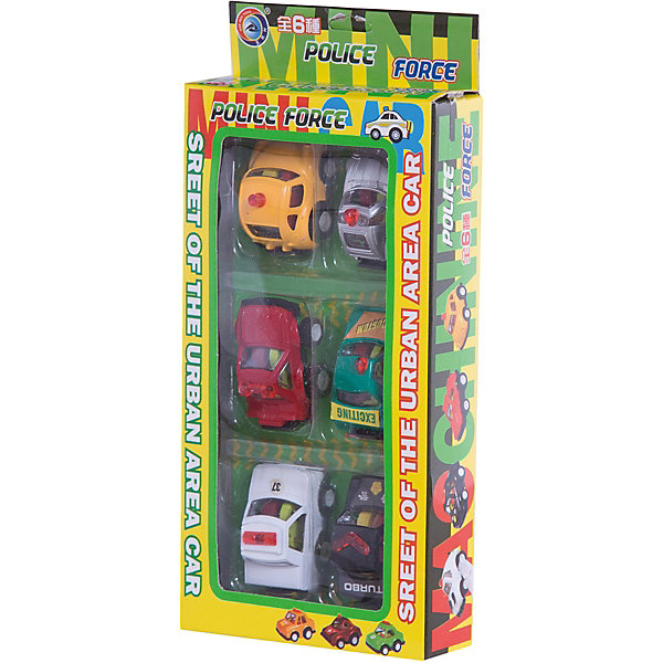 Набор инерционных машинок Полицейский патруль, 6 шт.Машинки<br>Характеристики:<br><br>• Предназначение: для сюжетно-ролевых игр, для коллекционирования<br>• Пол: для мальчиков<br>• Материал: пластик<br>• Комплектация: 6 машинок серии Полицейский патруль<br>• Механизм движения: инерционный<br>• У машинок отсутствуют острые углы и съемные детали<br>• Вес: 140 г<br>• Размеры упаковки (Д*В*Ш): 23*3,5*11 см<br>• Упаковка: картонная коробка с блистером<br>• Особенности ухода: сухая или влажная чистка<br><br>Набор инерционных машинок Полицейский патруль, 6 шт. – этот набор  машинок, выполненных из пластика, устойчивого к сколам и ударам. Элементы игрового набора окрашены нетоксичными красками. У игрушек отсутствуют съемные детали и острые углы, что делает их безопасными даже для самых маленьких. <br><br>Набор включает в себя 6 разноцветных машинок из серии Полицейский патруль. У машинок подвижные колеса, а также предусмотрен инерционный механизм. Сюжетно-ролевые игры с машинками  будут способствовать развитию координации движений, фантазии и воображения, а миниатюрный размер игрушек будет способствовать развитию мелкой моторики рук.<br><br>Набор инерционных машинок Полицейский патруль, 6 шт.  можно купить в нашем интернет-магазине.<br><br>Ширина мм: 230<br>Глубина мм: 35<br>Высота мм: 110<br>Вес г: 140<br>Возраст от месяцев: 36<br>Возраст до месяцев: 2147483647<br>Пол: Мужской<br>Возраст: Детский<br>SKU: 5367087
