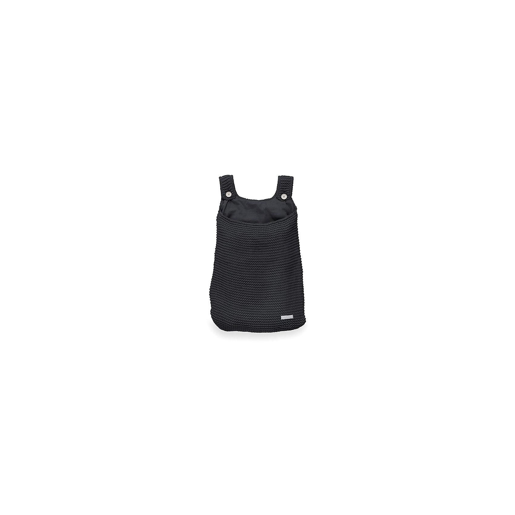 Сумка на кроватку, Jollein, BlackПорядок в детской<br>Характеристики:<br><br>• Вид детского текстиля: сумка на детскую кроватку<br>• Предназначение: для хранения детских текстильных принадлежностей<br>• Пол: универсальный<br>• Коллекция: Heavy knit (Крупная вязка)<br>• Цвет: черный<br>• Тематика рисунка: без рисунка<br>• Крепится к кроватке за счет лямок на пуговицах<br>• Универсальный размер, подходит для любых моделей детских кроваток<br>• Материал: 50% хлопок, 50% акрил<br>• Размер: 50*40 см<br>• Особенности ухода: машинная или ручная стирка при температуре не более 30 градусов<br><br>Сумка на кроватку, Jollein, Black от торговой марки Жолляйн, которая является признанным лидером среди аналогичных брендов, выпускающих детское постельное белье и текстиль для новорожденных. Продукция этого торгового бренда отличается высоким качеством и дизайнерским стилем. Сумка на кроватку Jollein, Blue выполнена из вязаного полотна, в состав которого входит хлопок и акрил. Такое сочетание обеспечивает прочность и долговечность изделия: оно не потеряет форму и на нем не будут образовываться катышки даже при частных стирках и длительной эксплуатации. <br><br>Изделие выполнено в форме сумки с двумя лямками на пуговицах, с помощью которых она крепится к бортику кроватки. У сумки имеется подклад. Изделие имеет дизайнерский стиль марки Жолляйн – сдержанный минимализм: однотонное полотно, выполненное крупной вязкой. <br>Сумка на кроватку, Jollein, Black – это не только порядок и уют, это еще и стильный аксессуар для детской комнаты вашего малыша! <br><br>Сумку на кроватку, Jollein, Black можно купить в нашем интернет-магазине.<br><br>Ширина мм: 250<br>Глубина мм: 400<br>Высота мм: 50<br>Вес г: 500<br>Возраст от месяцев: 0<br>Возраст до месяцев: 36<br>Пол: Унисекс<br>Возраст: Детский<br>SKU: 5367096