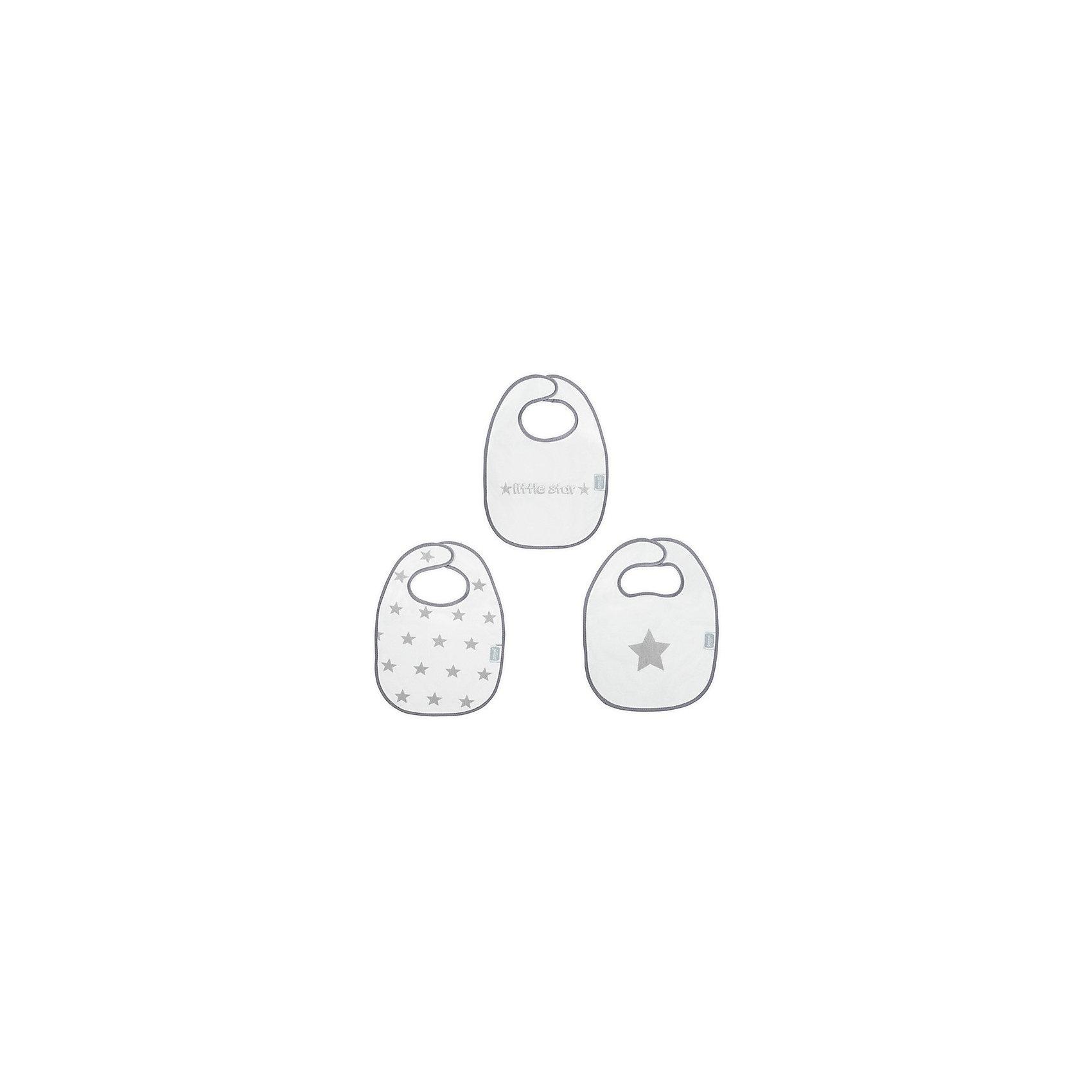 Комплект махровых нагрудников, 3 шт, Jollein, Little star greyНагрудники Jollein замечательно защищают одежду от грязи. Сделаны из мягкой махровой ткани, хорошо дышат, поэтому можно носить долгое время. Промокают.<br><br>Ширина мм: 310<br>Глубина мм: 470<br>Высота мм: 10<br>Вес г: 300<br>Возраст от месяцев: 0<br>Возраст до месяцев: 36<br>Пол: Унисекс<br>Возраст: Детский<br>SKU: 5367108