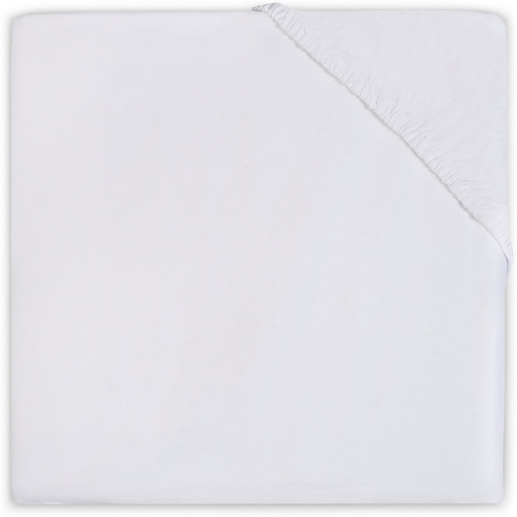 Простыня на резинке 70х140 см, Jollein, WhiteJollein (Жолляйн) предлагает большой выбор однотонных расцветок простынок, которые можно сочетать с любыми цветами комплектов наволочек и пододеяльников. Однотонные простынки - это не скучно. Подбирая цвет простынки, можно создать идеальный цветовой ансамбль детской кроватки. Такие простынки могут сдержанно поддержать основную цветовую идею интерьера детской комнаты, либо же наоборот - стать стильным цветовым акцентом в минималистичном интерьере. Создавайте стильные комплекты в Вашем стиле. Мягкое, приятное для тела, тонкое джерси &amp;ldquo;дышит&amp;rdquo;, регулирует температуру тела. Плотность: 140 гр/мкв. Стирать при 40-60 градусах<br><br>Ширина мм: 200<br>Глубина мм: 230<br>Высота мм: 30<br>Вес г: 285<br>Возраст от месяцев: 0<br>Возраст до месяцев: 36<br>Пол: Унисекс<br>Возраст: Детский<br>SKU: 5367128
