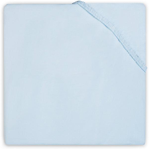 Простыня на резинке 70х140 см, Jollein, Light blue