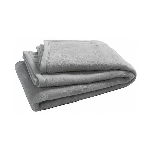 Байковый плед 100х150 см, Jollein, Light grey