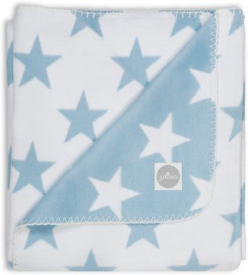 Байковый Плед 100Х150 См, Jollein, Light Blue Star