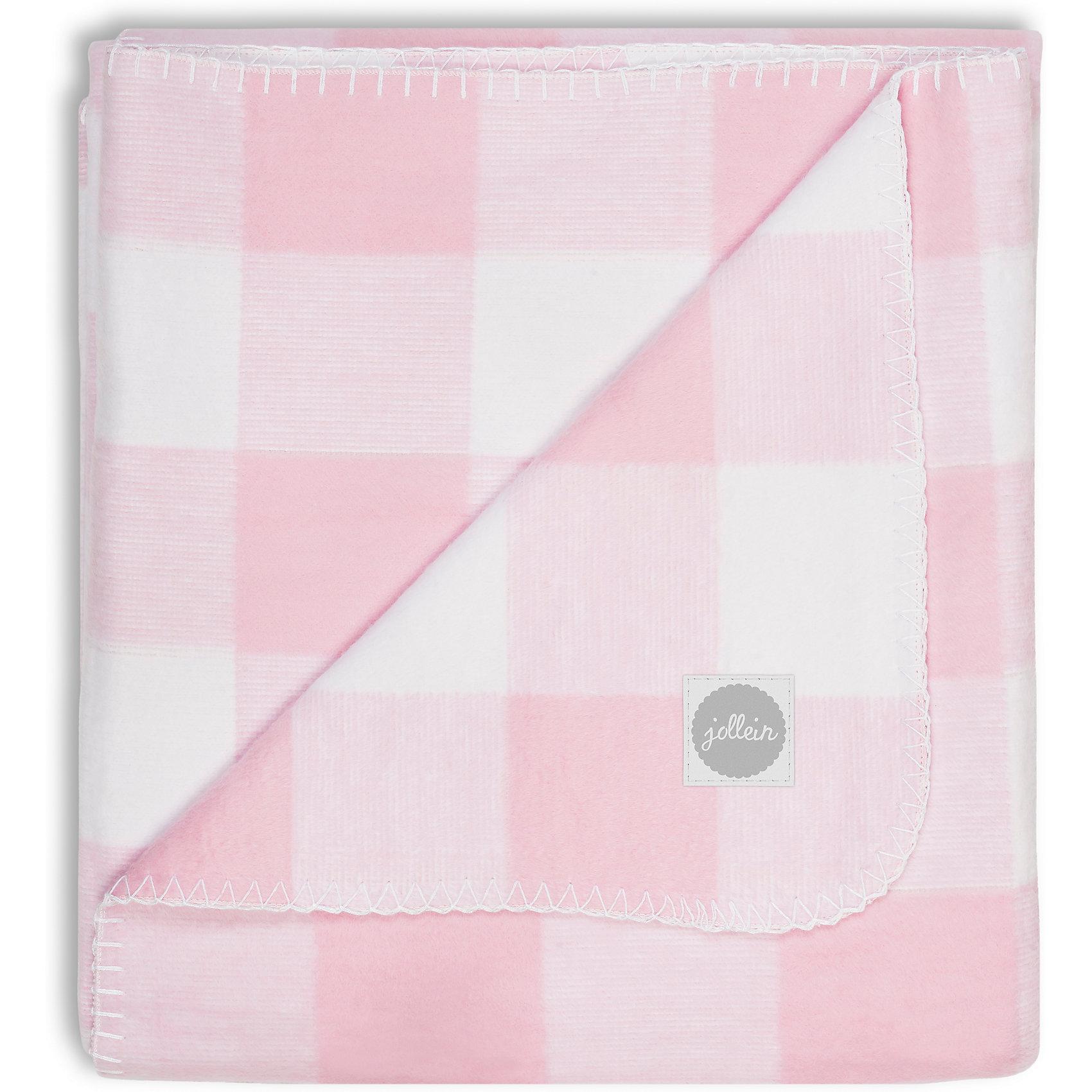 Байковый плед 100х150 см, Jollein, Pink checkХарактеристики:<br><br>• Вид детского текстиля: плед<br>• Пол: для девочки<br>• Сезон: круглый год<br>• Степень утепления: без дополнительного утепления<br>• Цвет: белый, розовый<br>• Тематика рисунка: клетка<br>• Материал: 100% хлопок <br>• Размер (Ш*Д): 100*150 см<br>• Вес: 830 г<br>• Особенности ухода: машинная или ручная стирка при температуре не более 40 градусов<br><br>Байковый плед 100х150 см, Jollein, Pink check от торговой марки Жолляйн, которая является признанным лидером среди аналогичных брендов, выпускающих детское постельное белье и текстиль для новорожденных и детей. Продукция этого торгового бренда отличается высоким качеством и дизайнерским стилем. <br><br>Плед выполнен из натурального хлопка, который обладает высокими гигиеническими и гигроскопическими качествами, способен хорошо пропускать воздух, при этом сохраняя тепло. <br><br>Изделие обладает гипоаллергенными свойствами. Имеет легкий вес и компатный размер в сложенном виде, при этом не сминается. Плед устойчив к изменению цвета и формы даже при длительной эксплуатации и частых стирках. Изделие выполнено в классическом дизайне для пледов – рисунок в клетку из нежных цветов. Байковый плед 100х150 см, Jollein, Pink check – это плед, который подарит тепло и уют в любое время года!<br><br>Байковый плед 100х150 см, Jollein, Pink check можно купить в нашем интернет-магазине.<br><br>Ширина мм: 380<br>Глубина мм: 345<br>Высота мм: 30<br>Вес г: 745<br>Возраст от месяцев: 0<br>Возраст до месяцев: 36<br>Пол: Женский<br>Возраст: Детский<br>SKU: 5367140