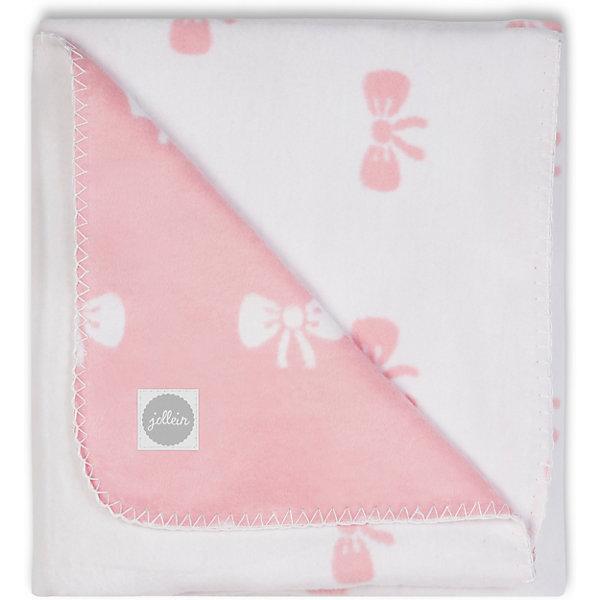 Байковый плед 100х150 см, Jollein, Bow pink